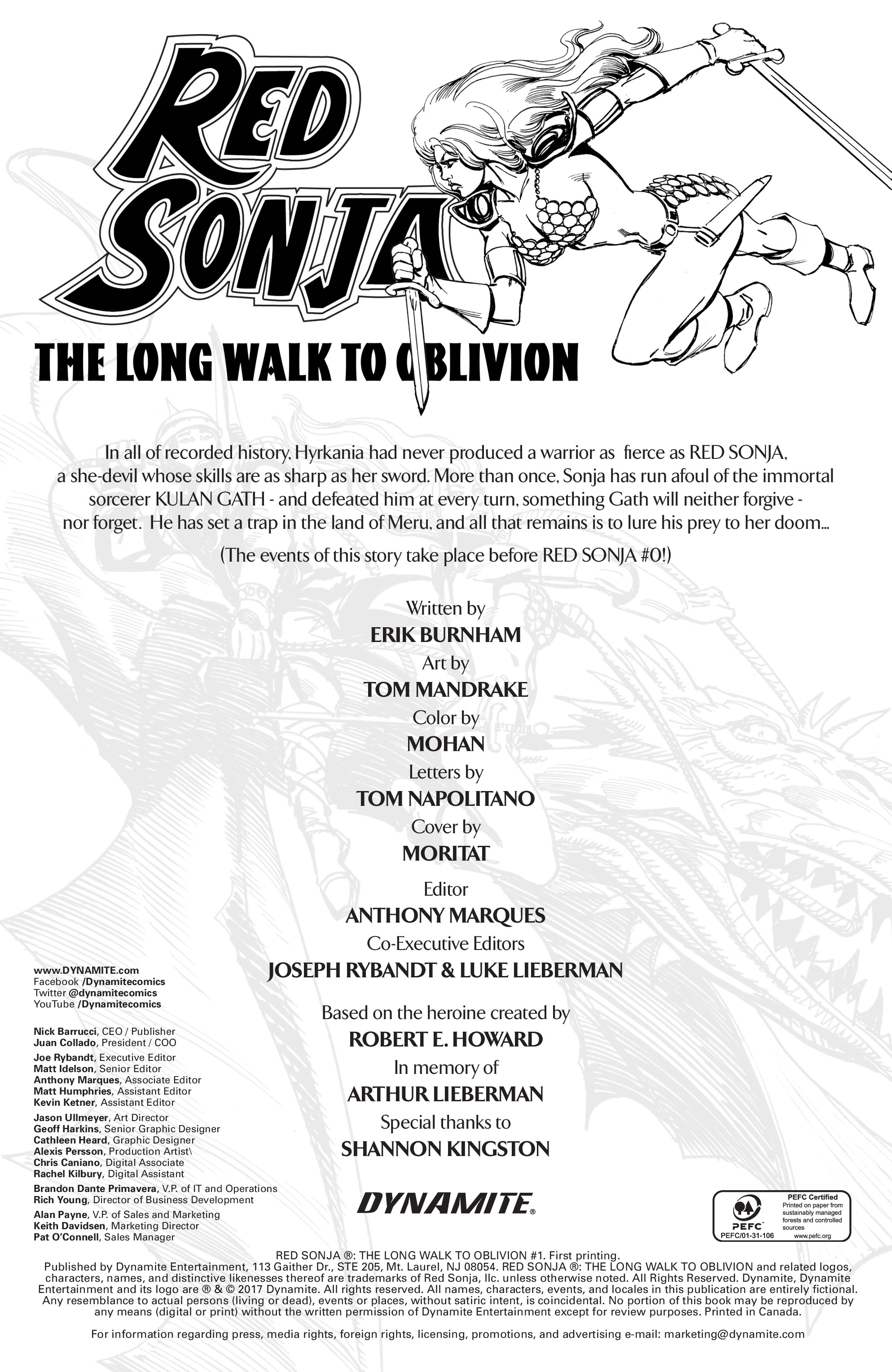 Read online Red Sonja: The Long Walk To Oblivion comic -  Issue # Full - 2