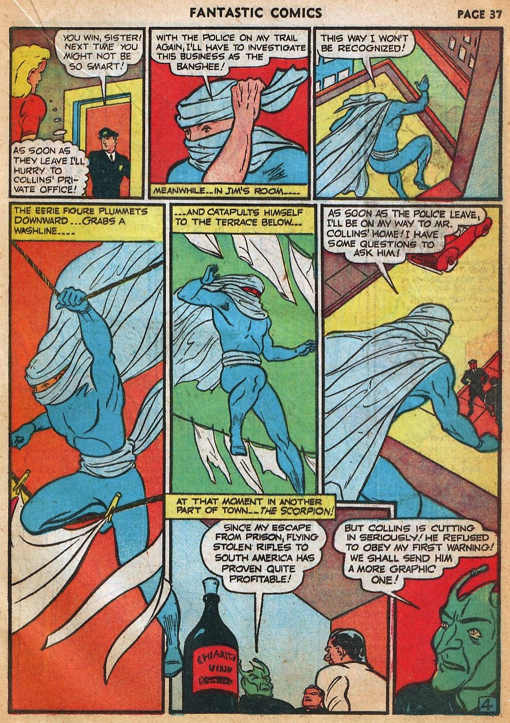 Read online Fantastic Comics comic -  Issue #22 - 38