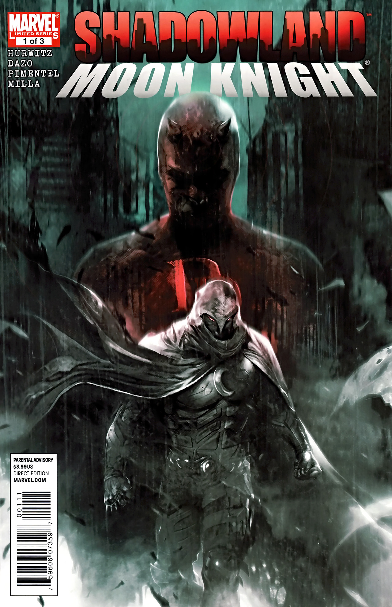 Read online Shadowland: Moon Knight comic -  Issue #1 - 1