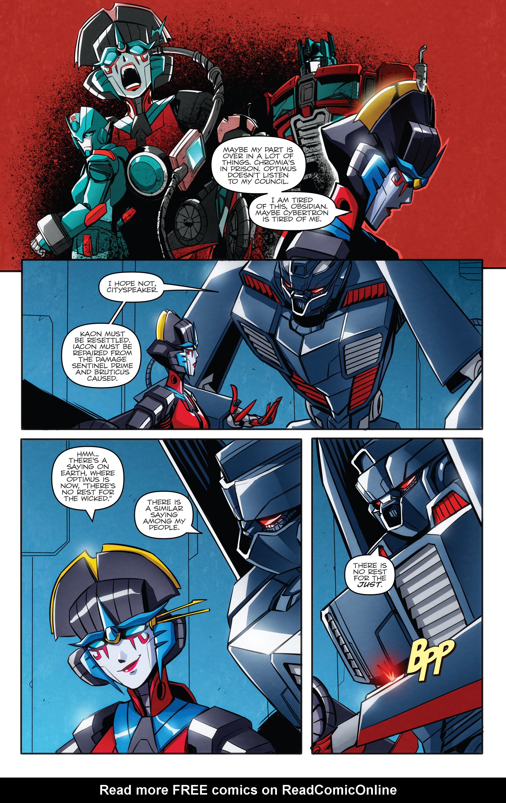 Read online Transformers: Till All Are One comic -  Issue #5 - 6