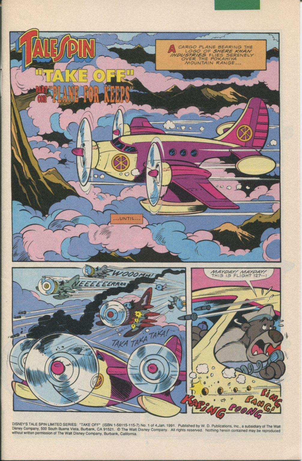 Read online Disney's Tale Spin Limited Series: ''Take Off'' comic -  Issue #1 - 2