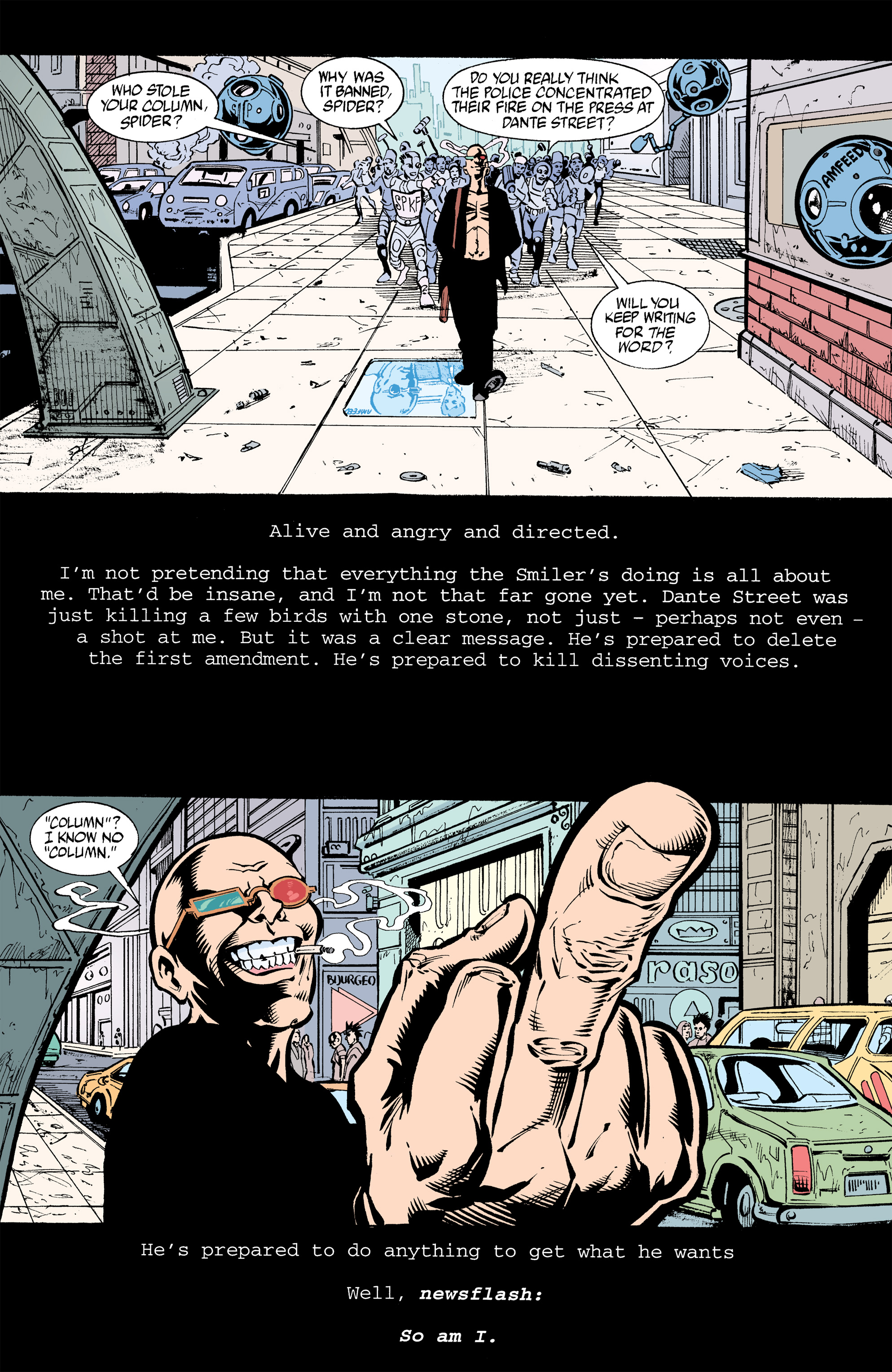 Read online Transmetropolitan comic -  Issue #32 - 19