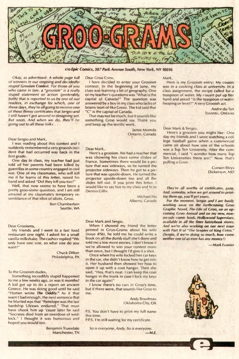 Read online Sergio Aragonés Groo the Wanderer comic -  Issue #73 - 25
