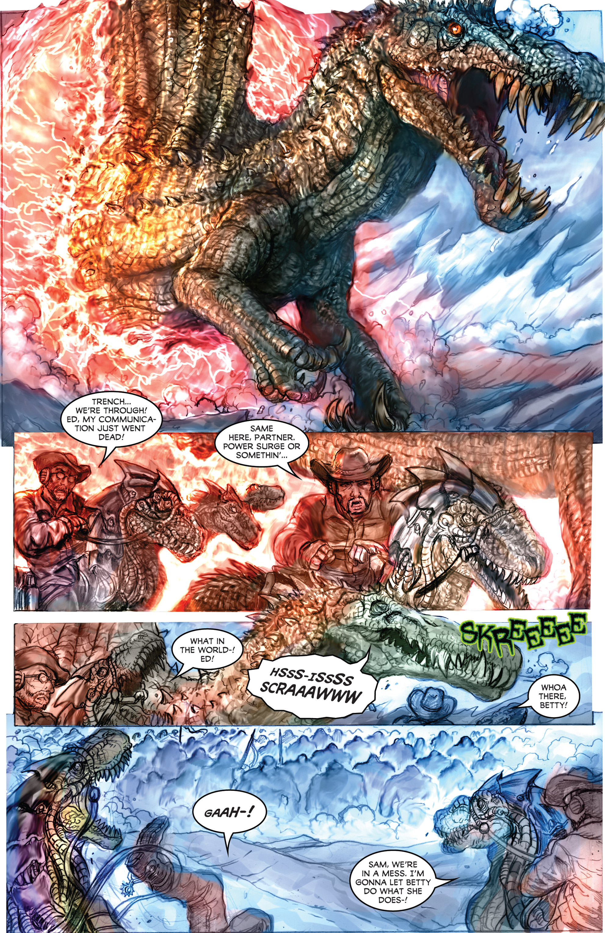 Read online American Mythology Dark: Werewolves vs Dinosaurs comic -  Issue #2 - 13