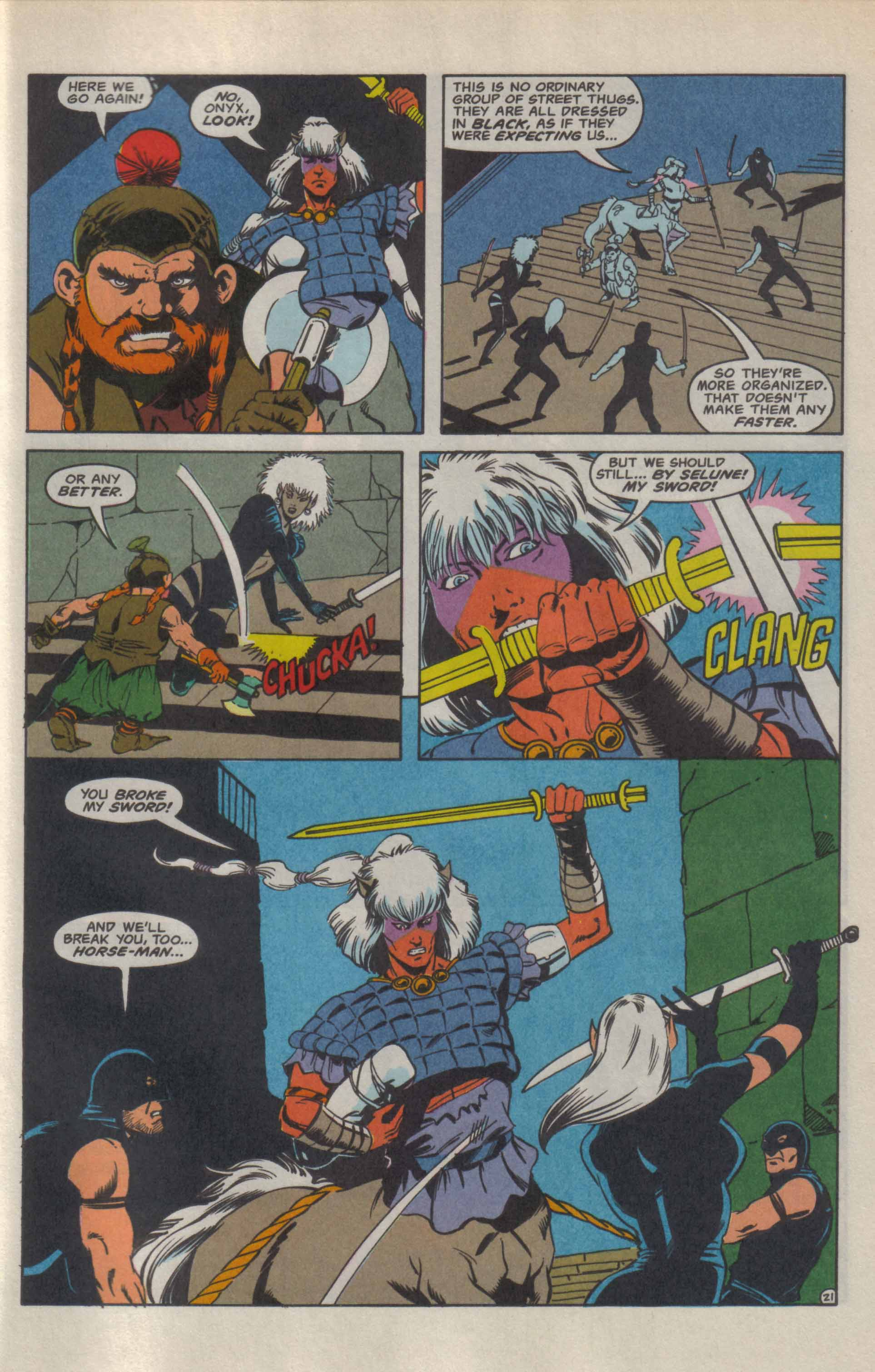 Read online Advanced Dungeons & Dragons comic -  Issue #9 - 22