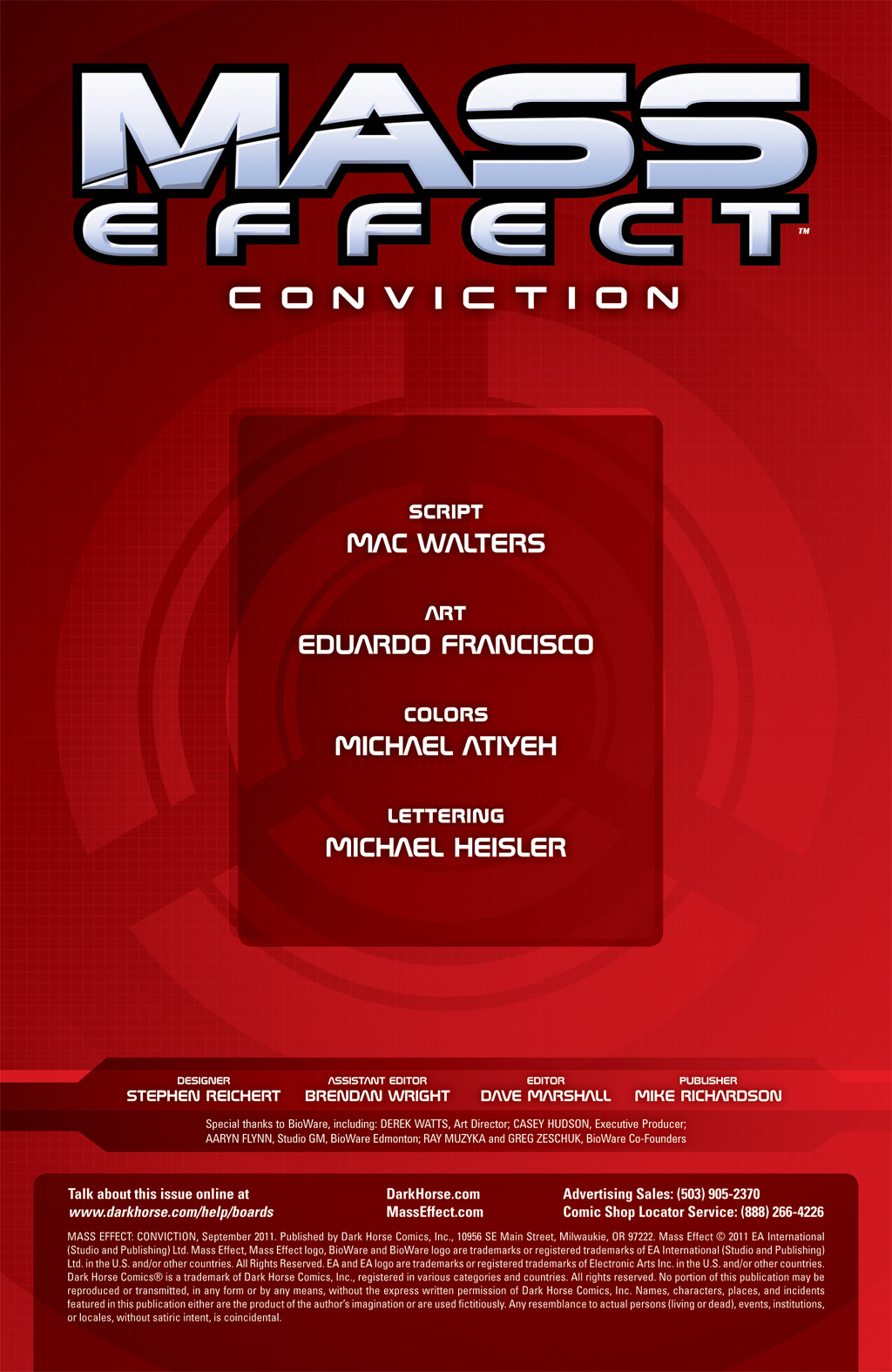 Read online Mass Effect: Conviction comic -  Issue # Full - 2