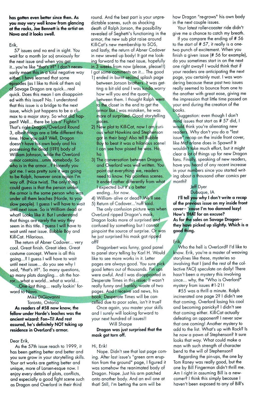 The Savage Dragon (1993) Issue #59 #62 - English 24