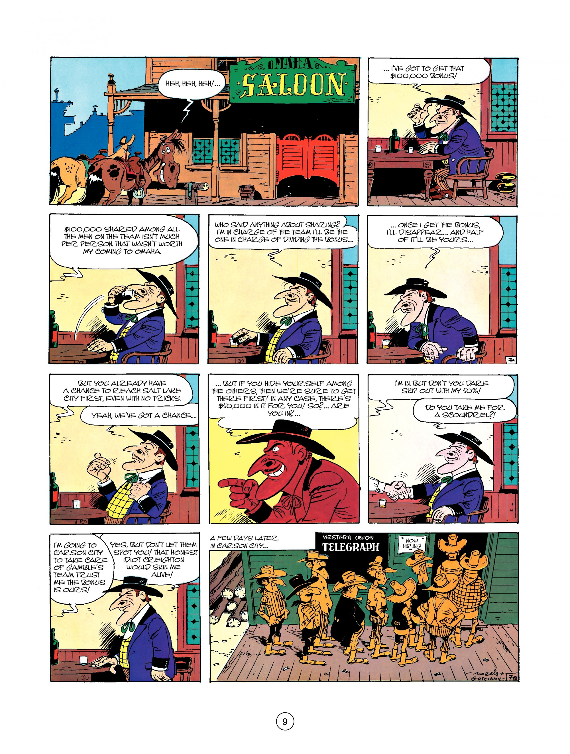 Read online A Lucky Luke Adventure comic -  Issue #35 - 9
