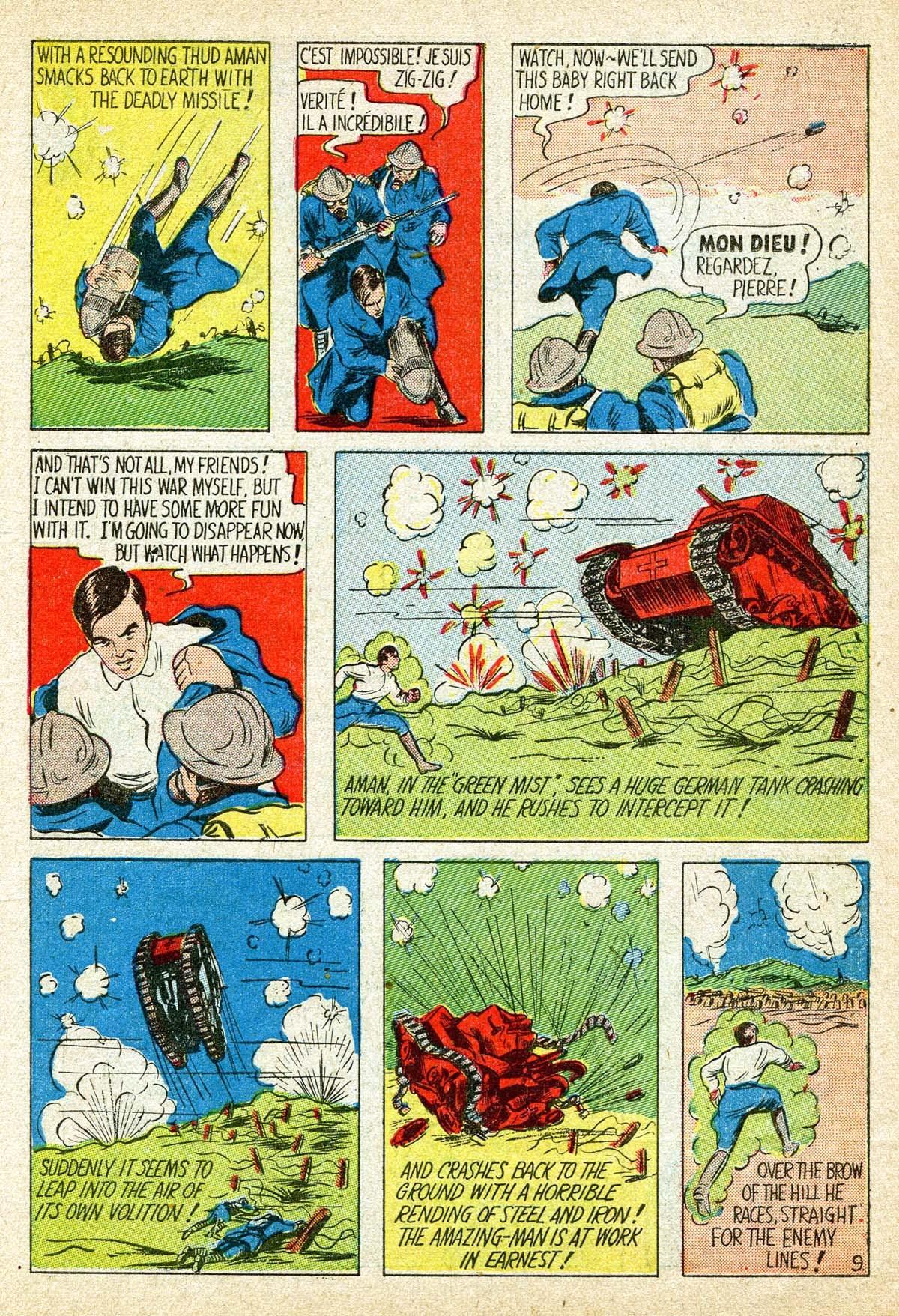 Read online Amazing Man Comics comic -  Issue #8 - 11