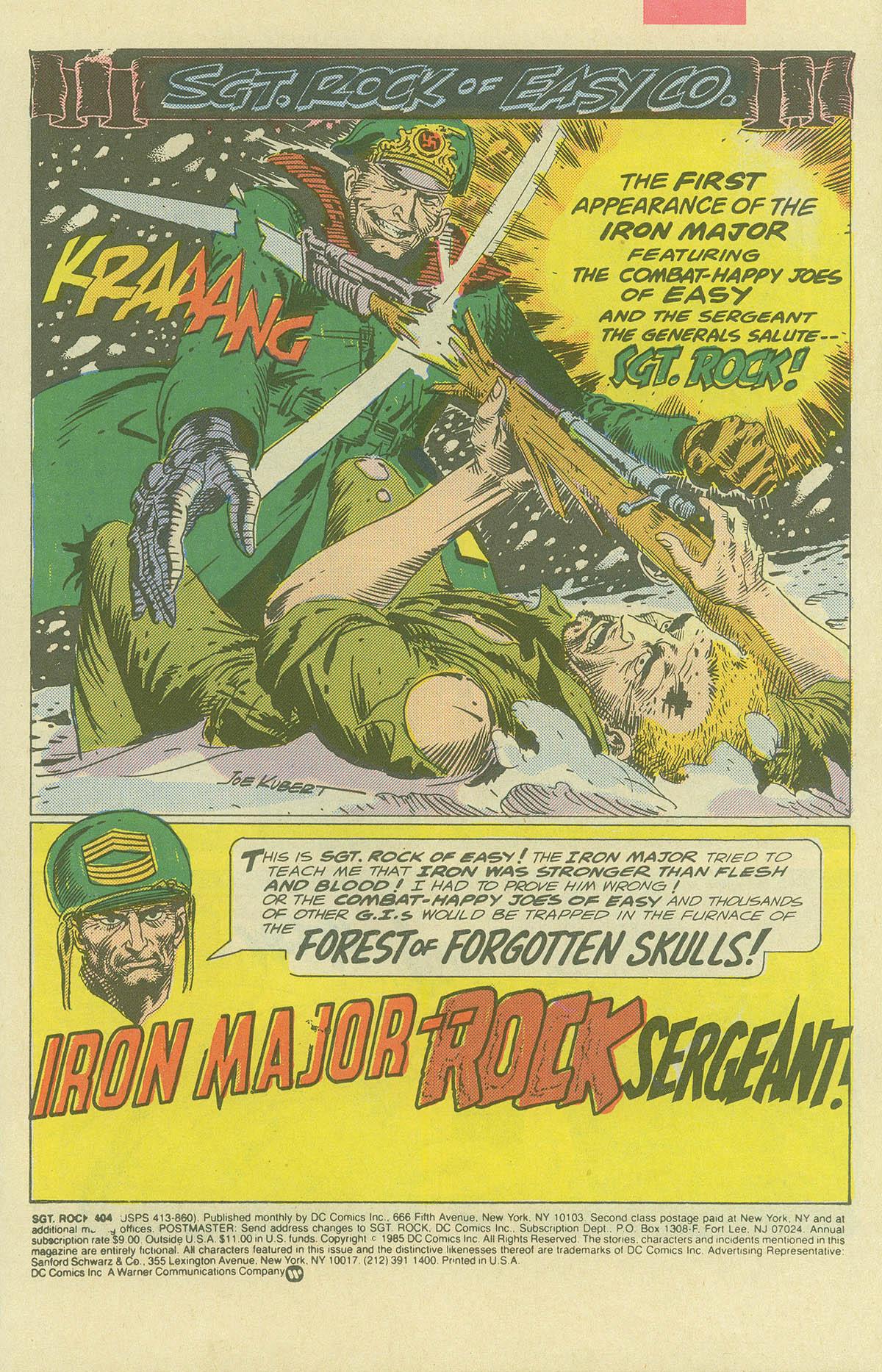 Read online Sgt. Rock comic -  Issue #404 - 3