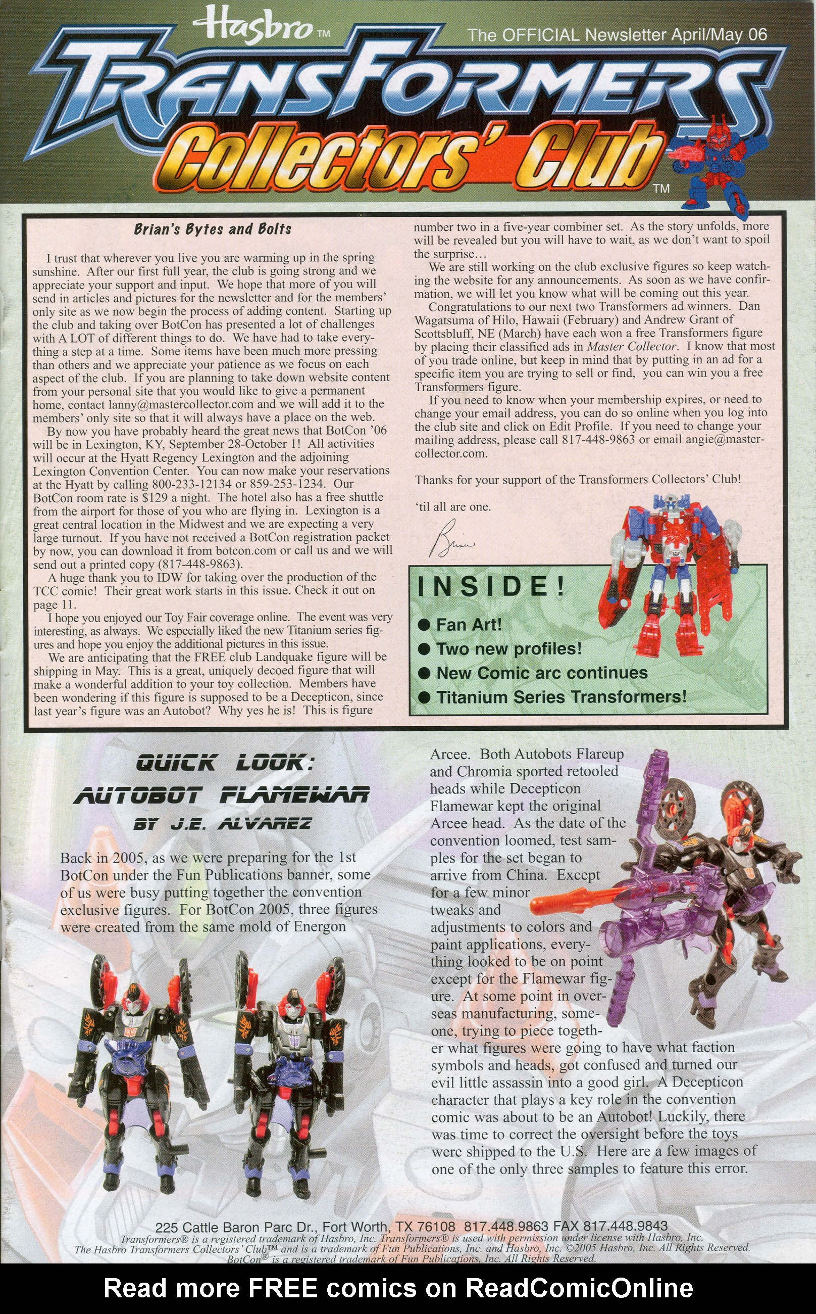 Read online Transformers: Collectors' Club comic -  Issue #8 - 1