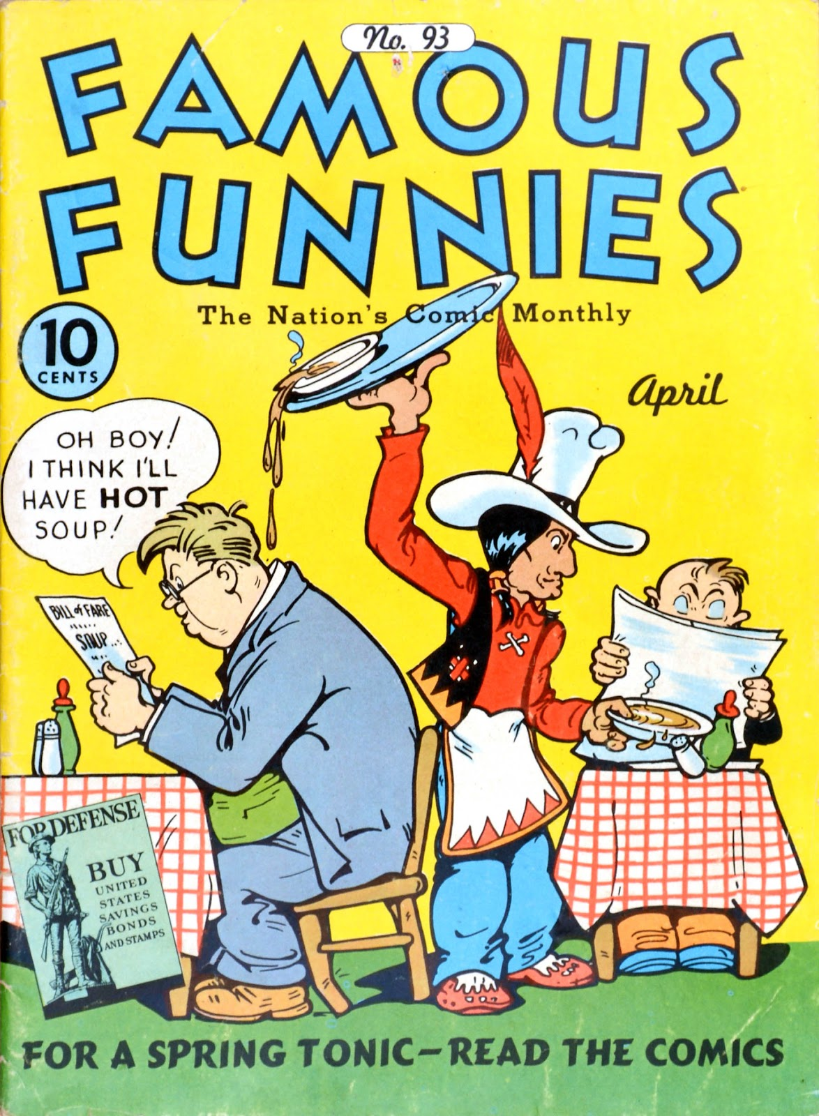 Read online Famous Funnies comic -  Issue #93 - 1