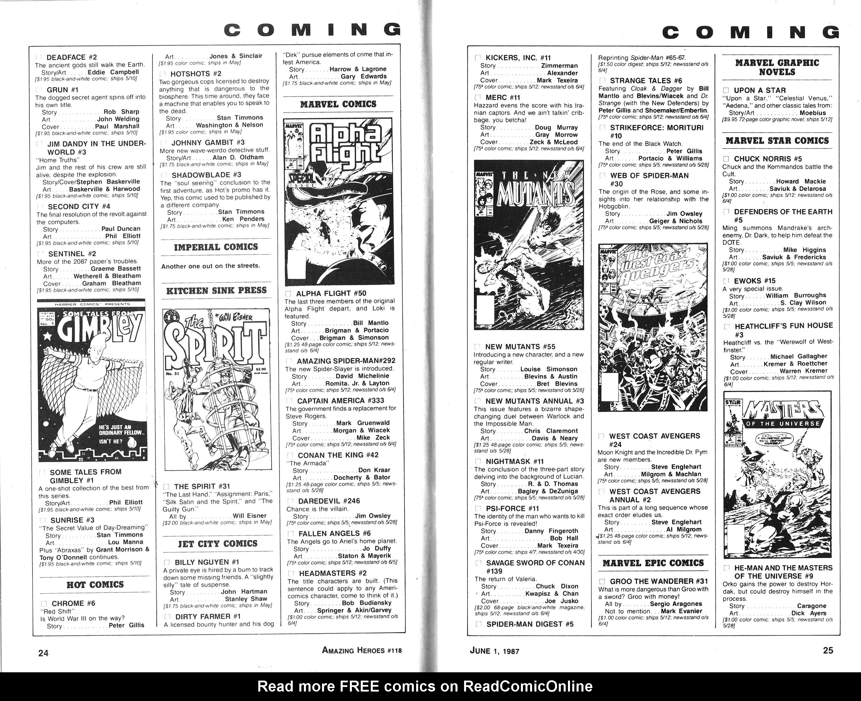 Read online Amazing Heroes comic -  Issue #118 - 13