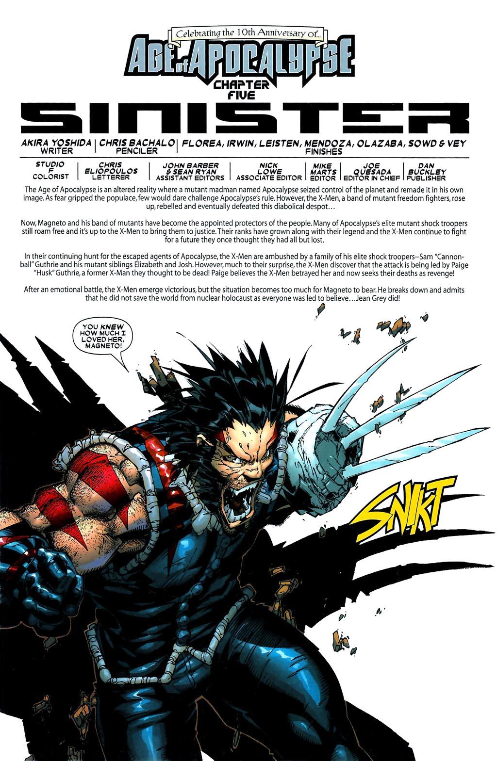 Read online Age of Apocalypse (2005) comic -  Issue #5 - 2