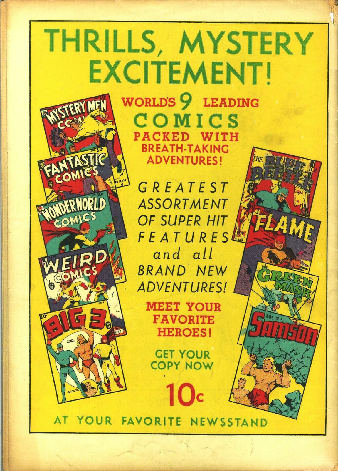Read online Fantastic Comics comic -  Issue #14 - 67