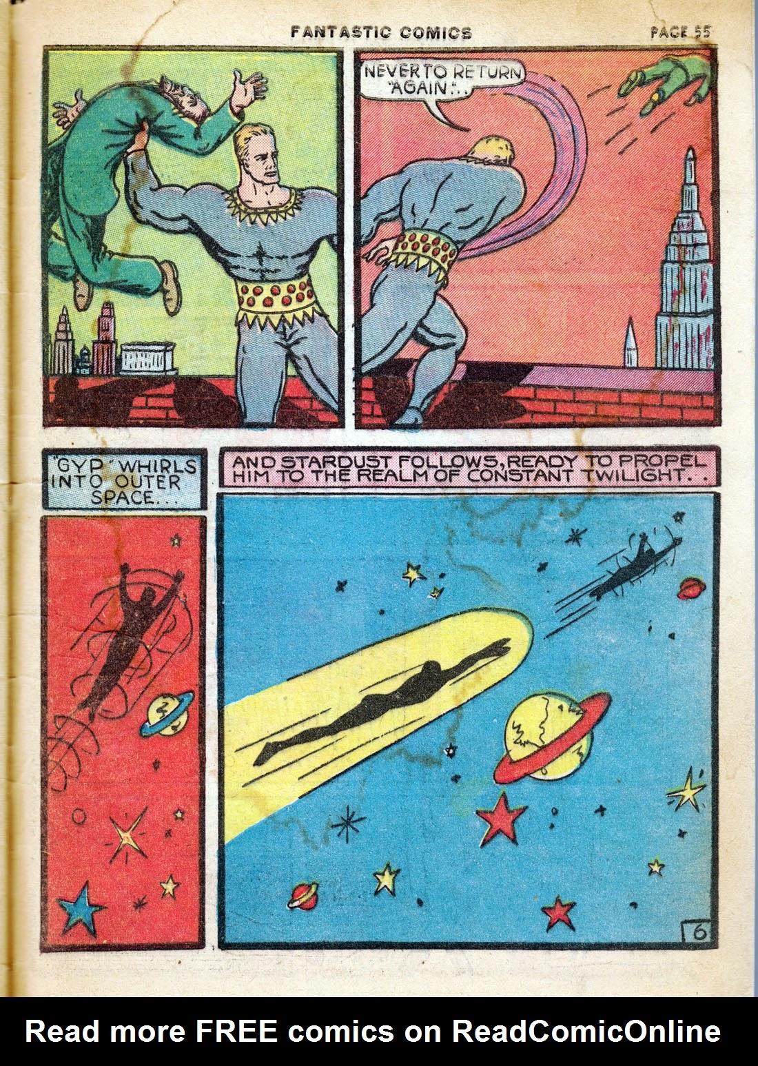 Read online Fantastic Comics comic -  Issue #7 - 57