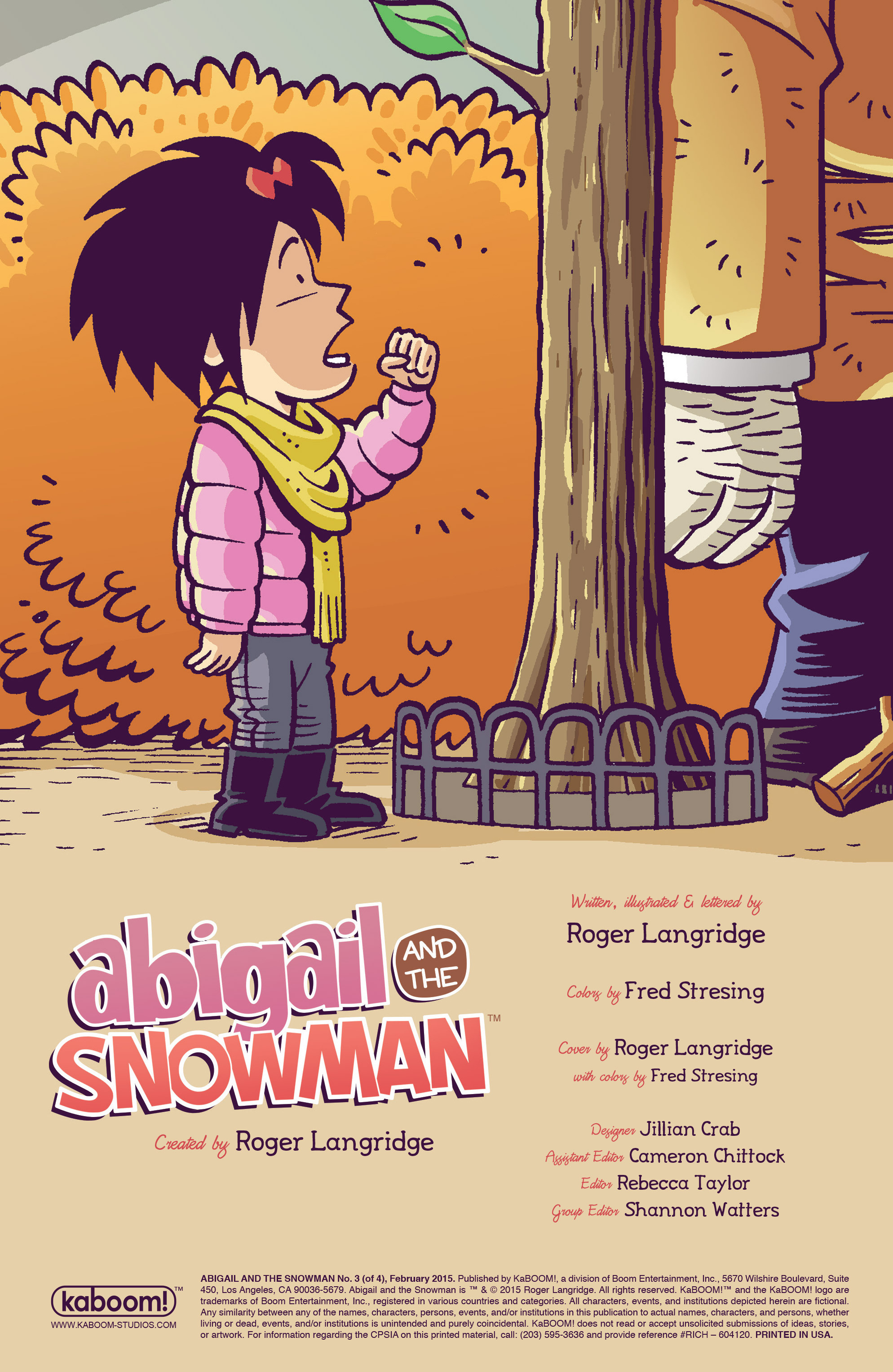 Read online Abigail And The Snowman comic -  Issue #3 - 2