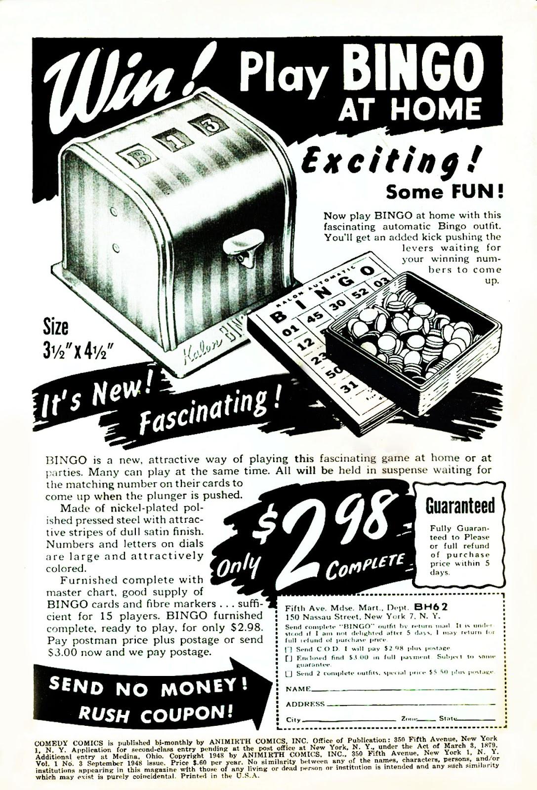 Read online Comedy Comics (1948) comic -  Issue #3 - 2