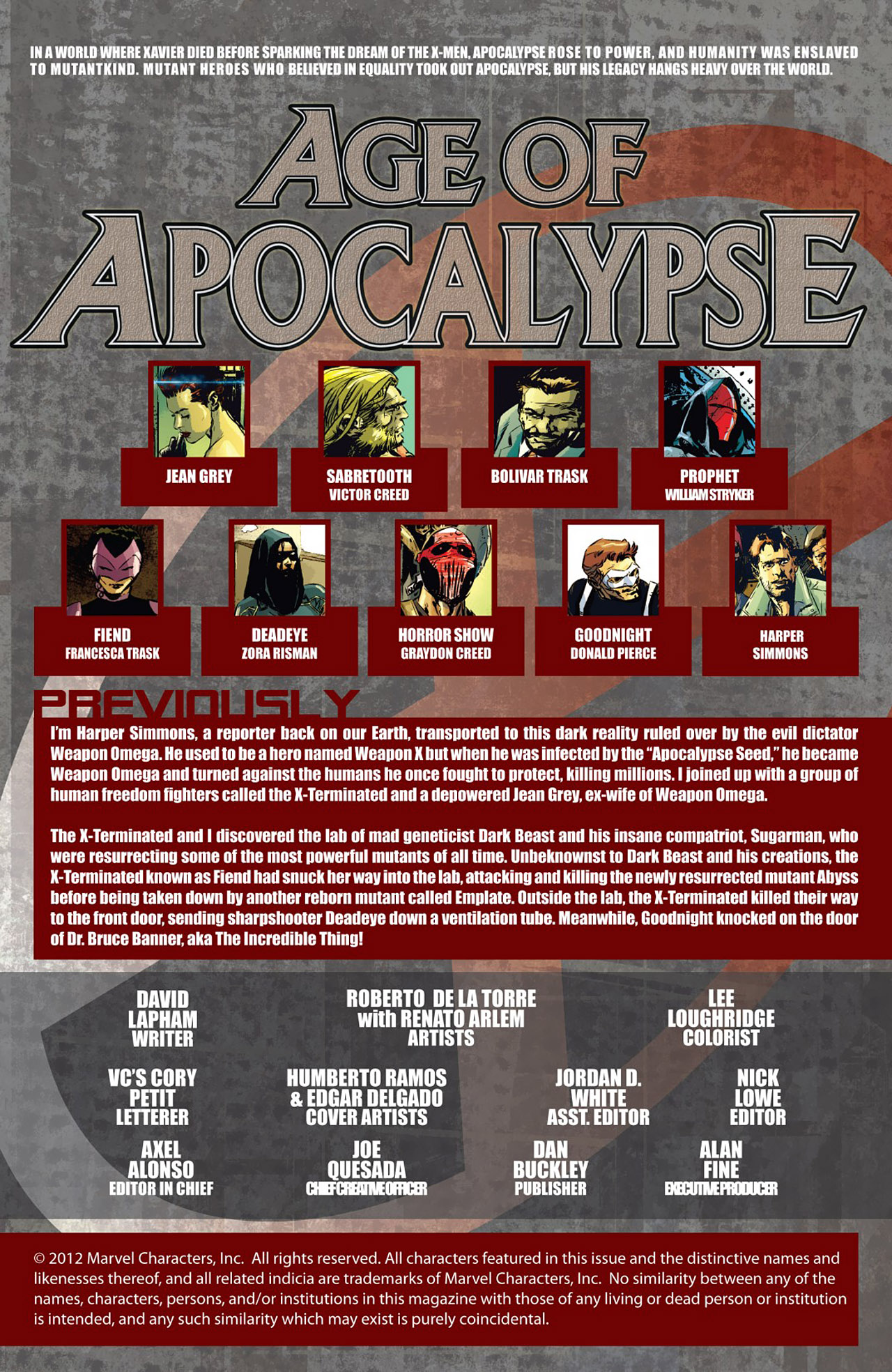 Read online Age of Apocalypse (2012) comic -  Issue #4 - 2