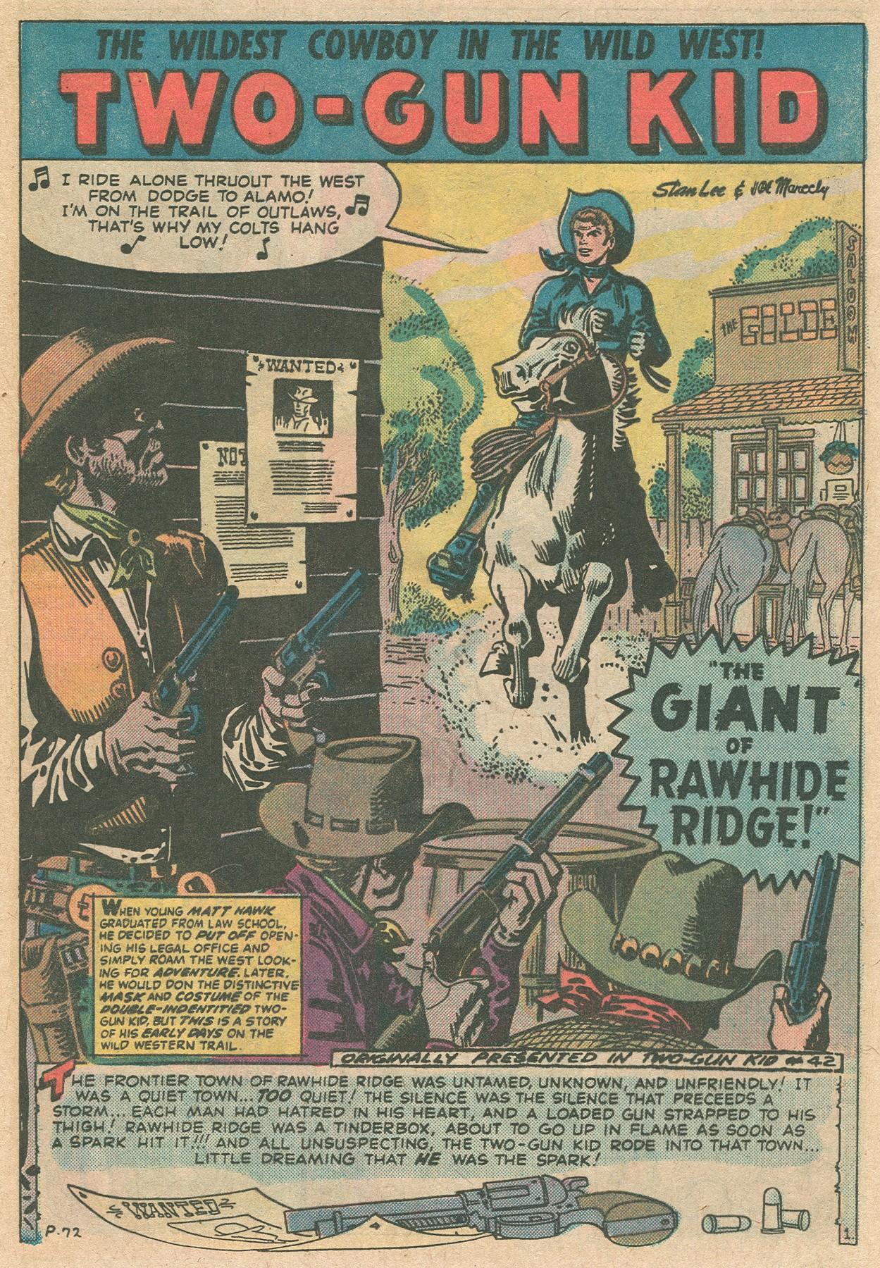 Read online Two-Gun Kid comic -  Issue #124 - 17