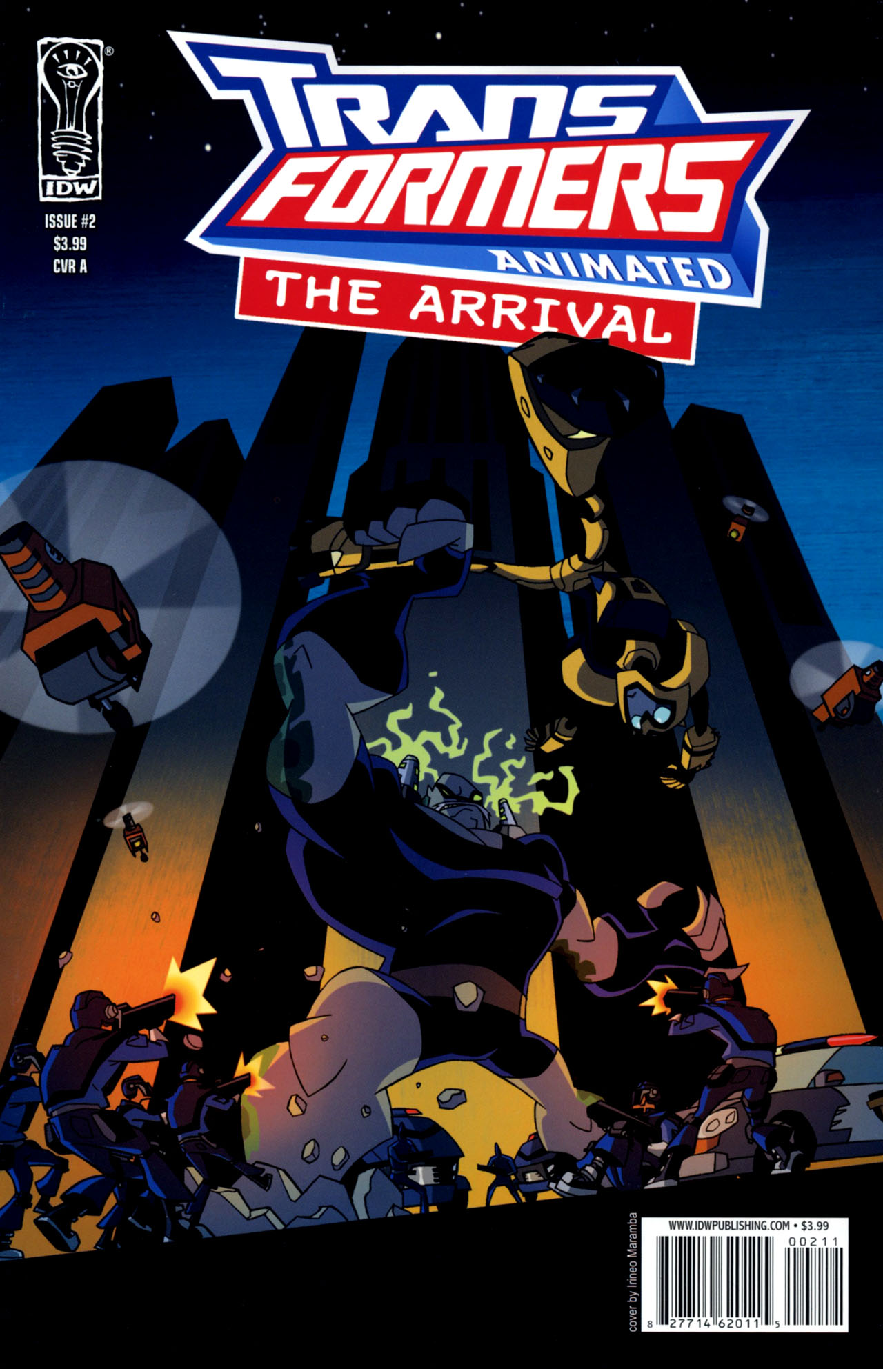 Read online Transformers Animated: The Arrival comic -  Issue #2 - 1