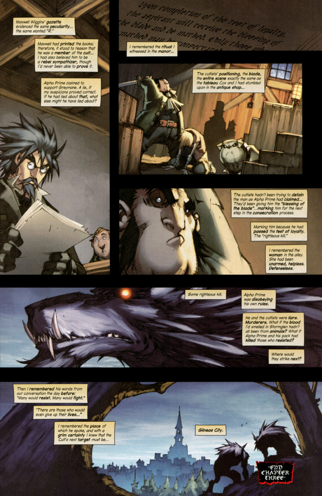 Read online World of Warcraft: Curse of the Worgen comic -  Issue #3 - 30