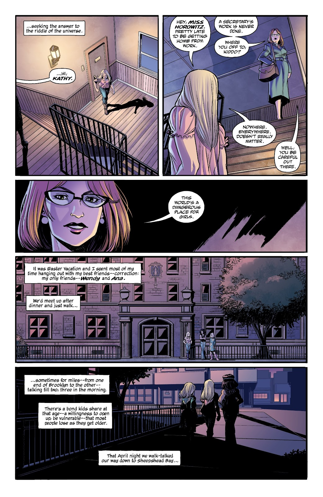 Read online The Girl In The Bay comic -  Issue #1 - 6