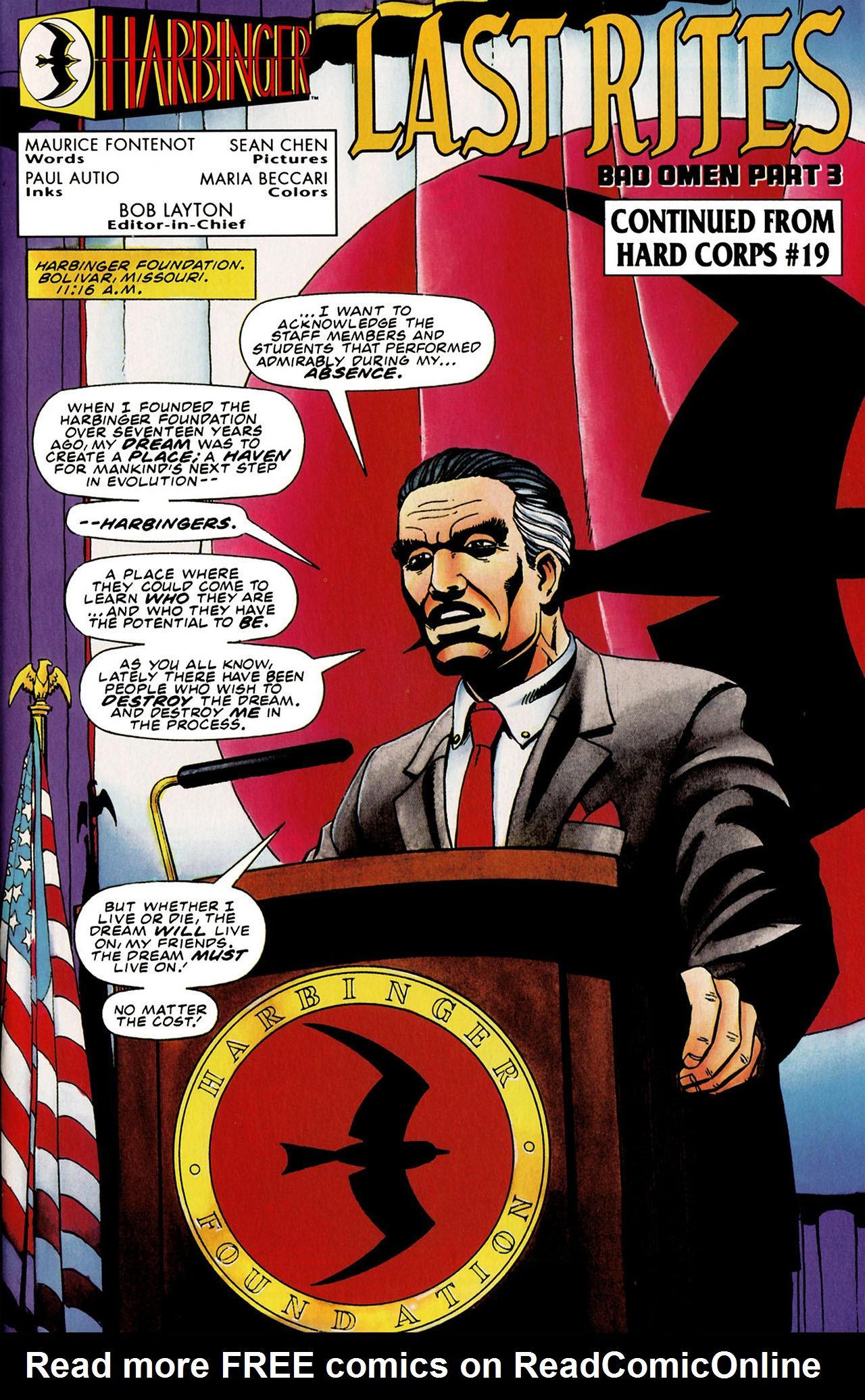 Read online Harbinger (1992) comic -  Issue #31 - 2