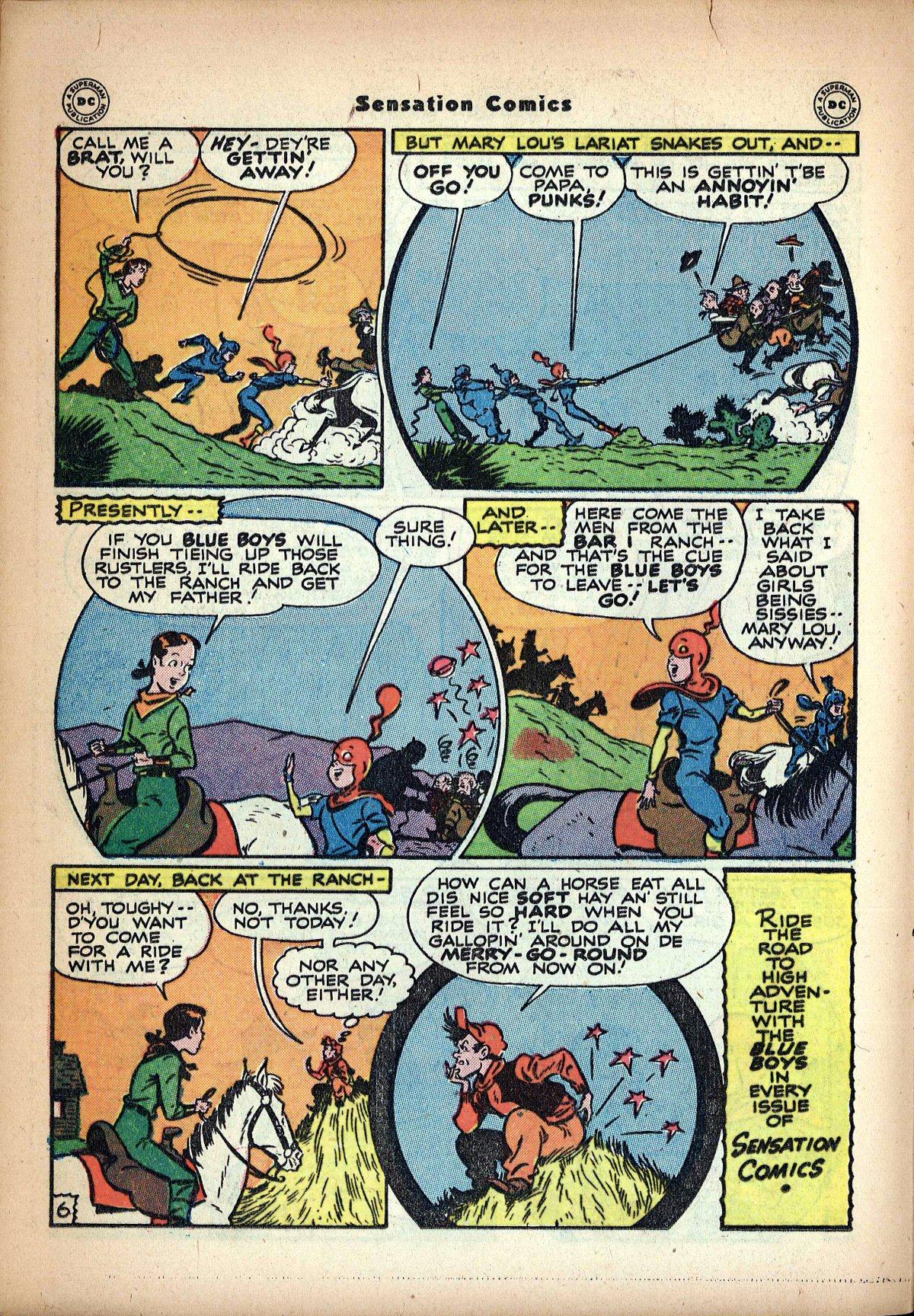 Read online Sensation (Mystery) Comics comic -  Issue #62 - 22