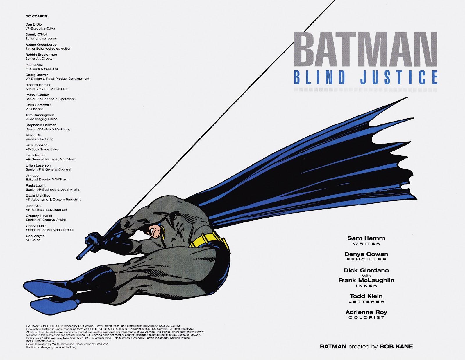 Read online Detective Comics (1937) comic -  Issue # _TPB Batman - Blind Justice (Part 1) - 3
