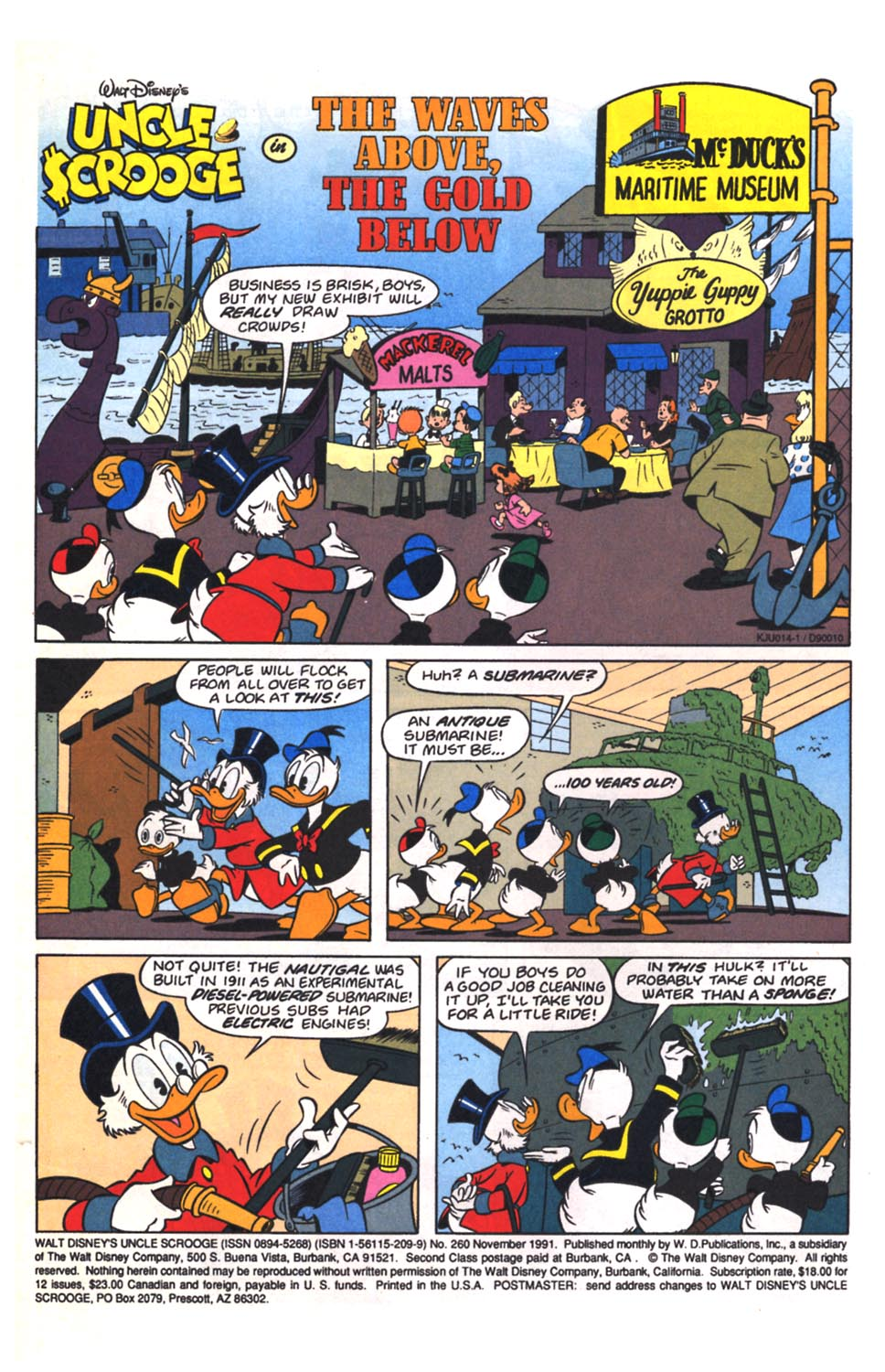 Read online Uncle Scrooge (1953) comic -  Issue #260 - 2
