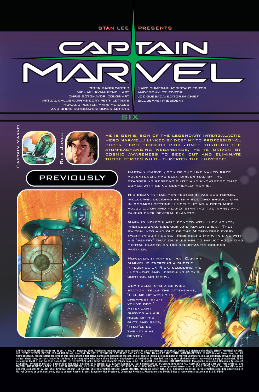 Captain Marvel (2002) Issue #14 #14 - English 2