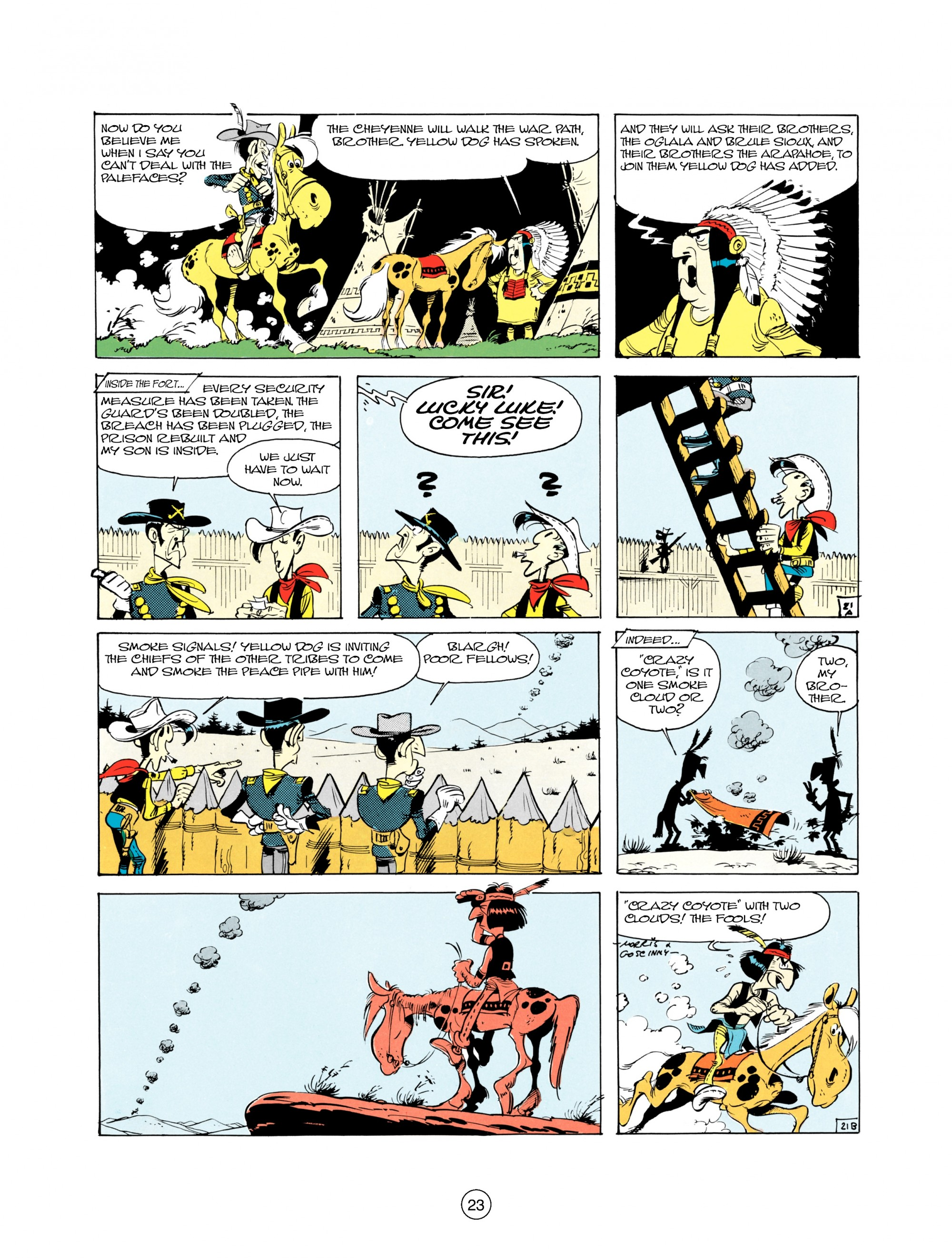 Read online A Lucky Luke Adventure comic -  Issue #21 - 23