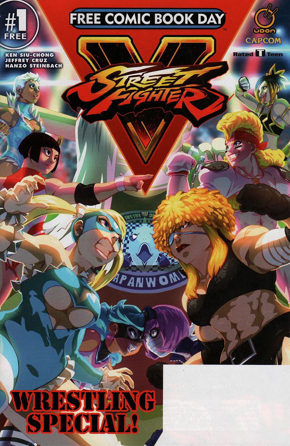 Read online Free Comic Book Day 2017 comic -  Issue # Street Fighter V - Wrestling Special - 1