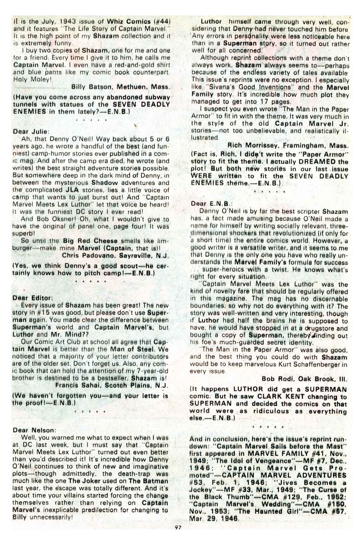 Read online Shazam! (1973) comic -  Issue #17 - 97