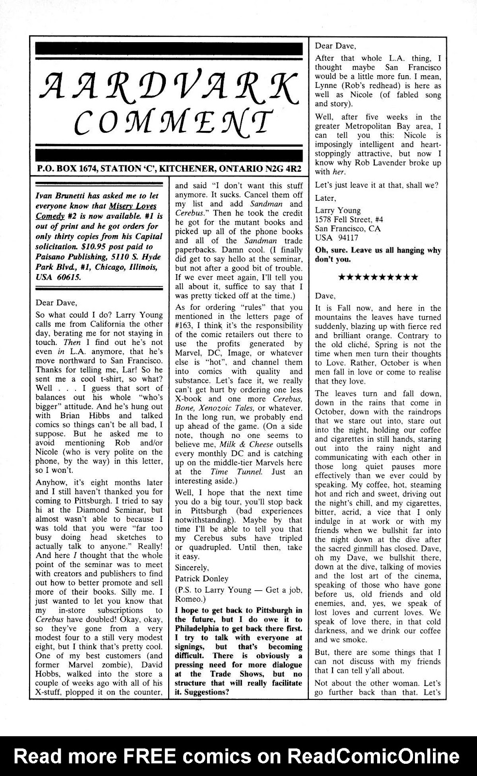 Cerebus Issue #165 #164 - English 21