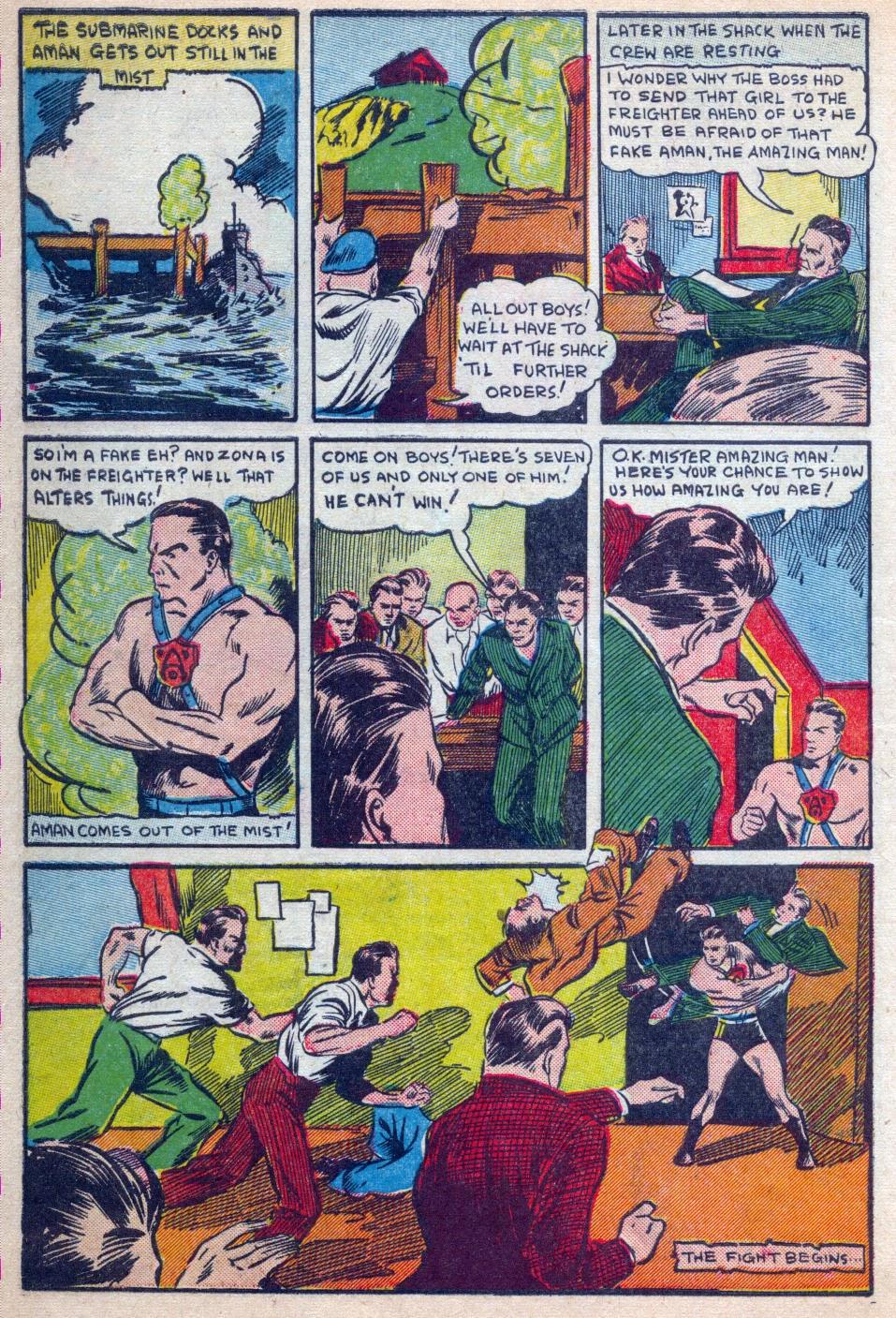 Read online Amazing Man Comics comic -  Issue #15 - 7