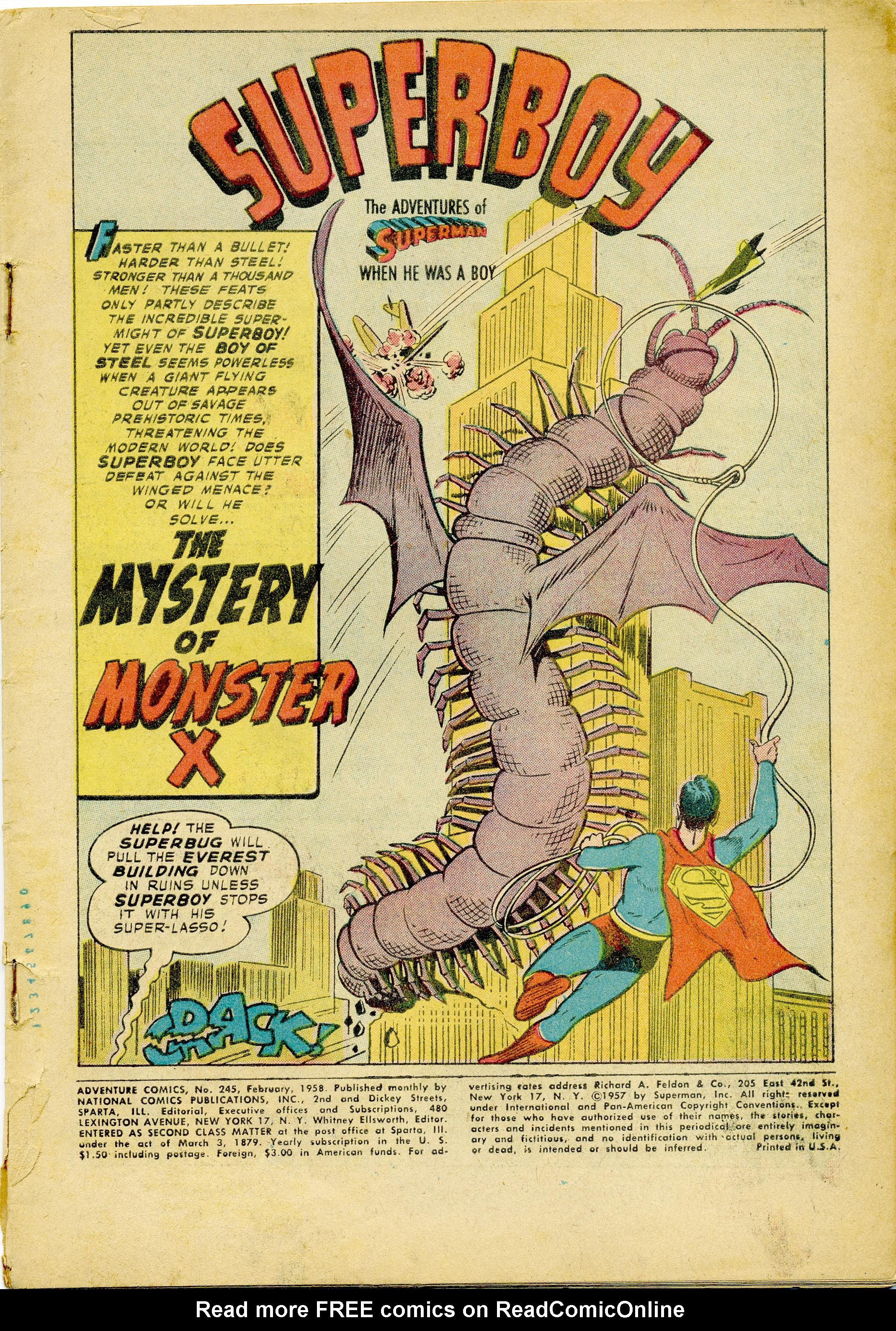 Read online Adventure Comics (1938) comic -  Issue #245 - 3