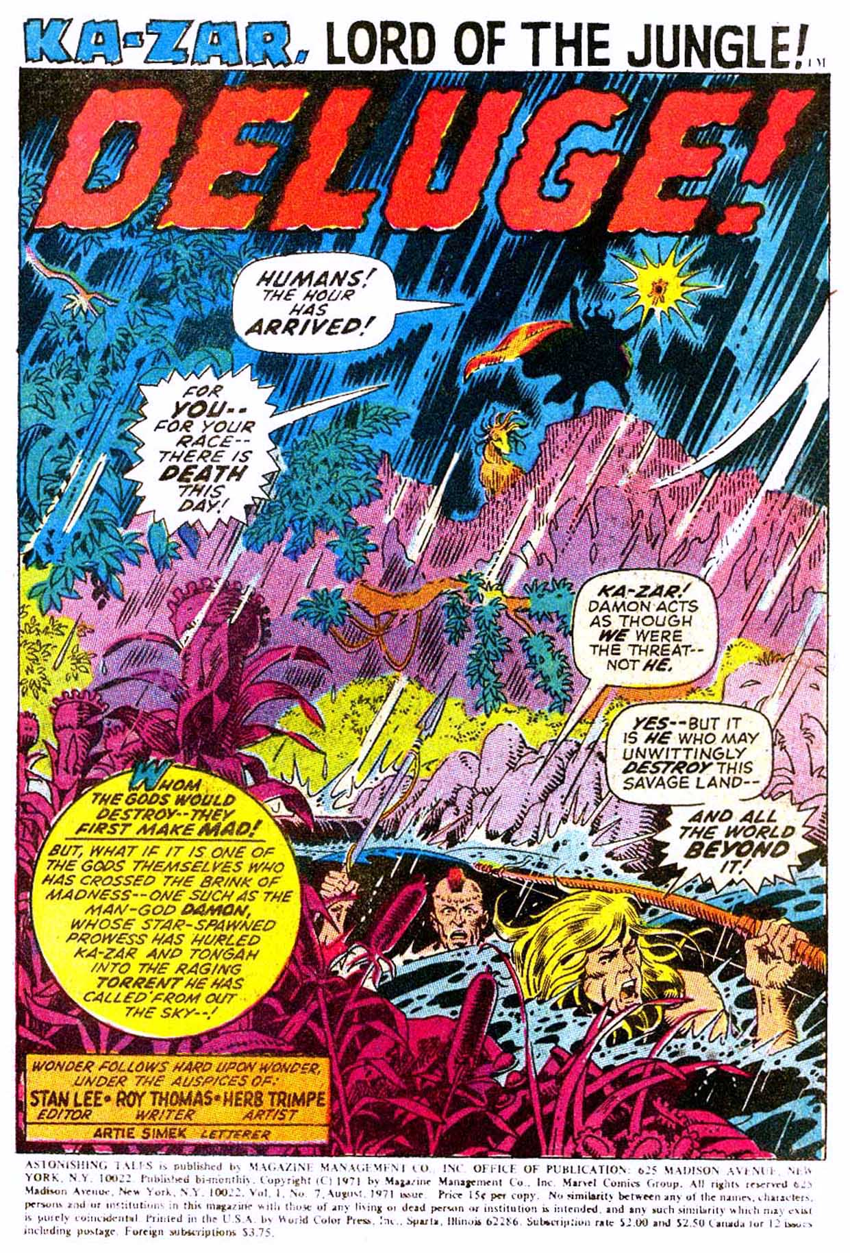 Read online Astonishing Tales (1970) comic -  Issue #7 - 12