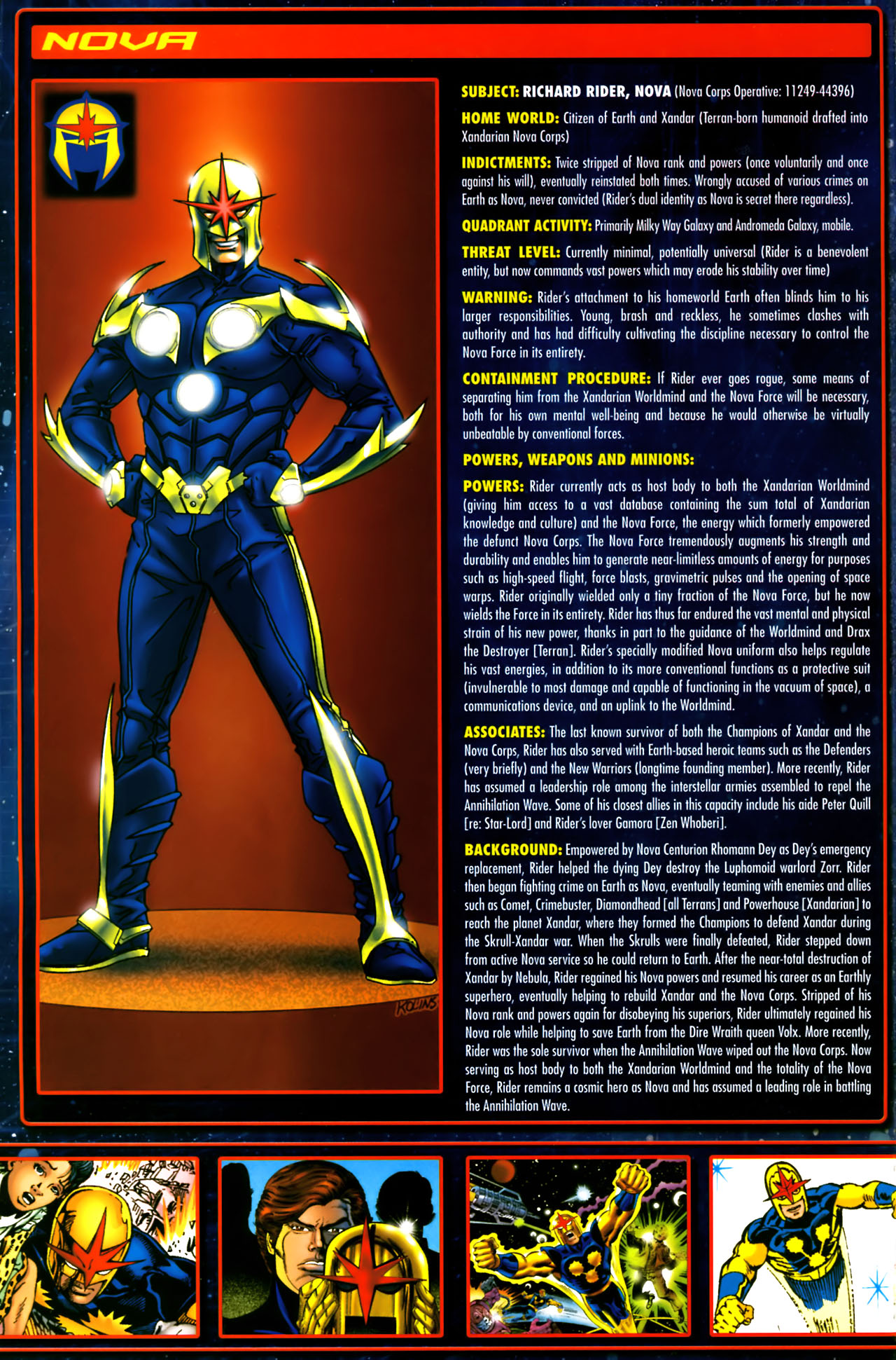 Read online Annihilation:  The  Nova Corps Files comic -  Issue #Annihilation:  The  Nova Corps Files Full - 24