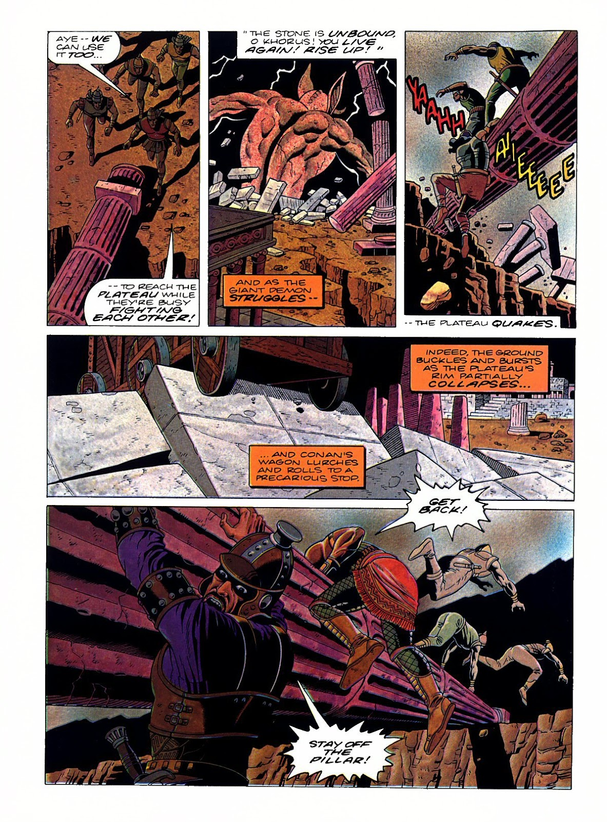 Read online Marvel Graphic Novel: Conan the Barbarian: The Skull of Set comic -  Issue # Full - 49