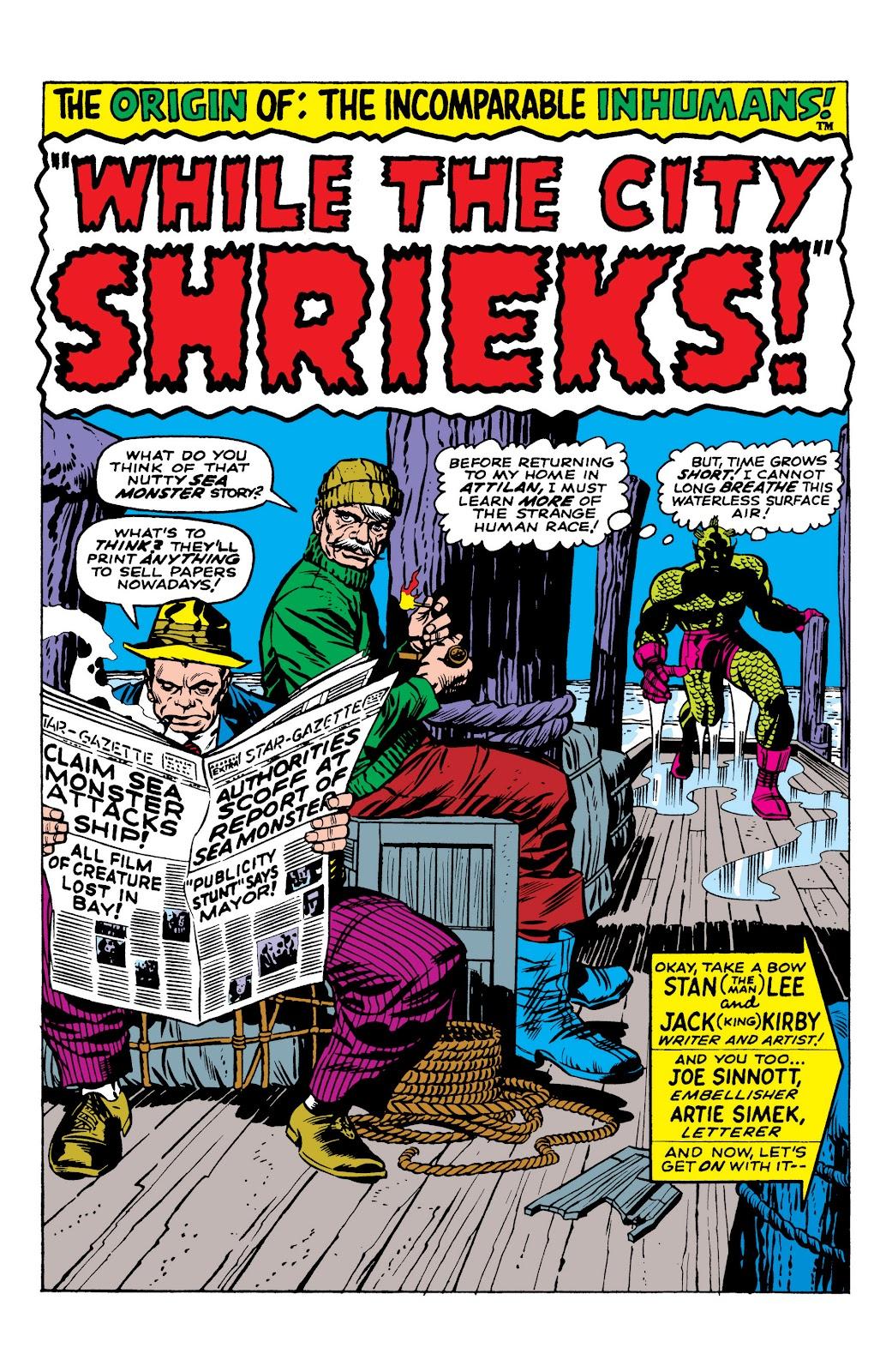 Read online Marvel Masterworks: The Inhumans comic -  Issue # TPB 1 (Part 1) - 38