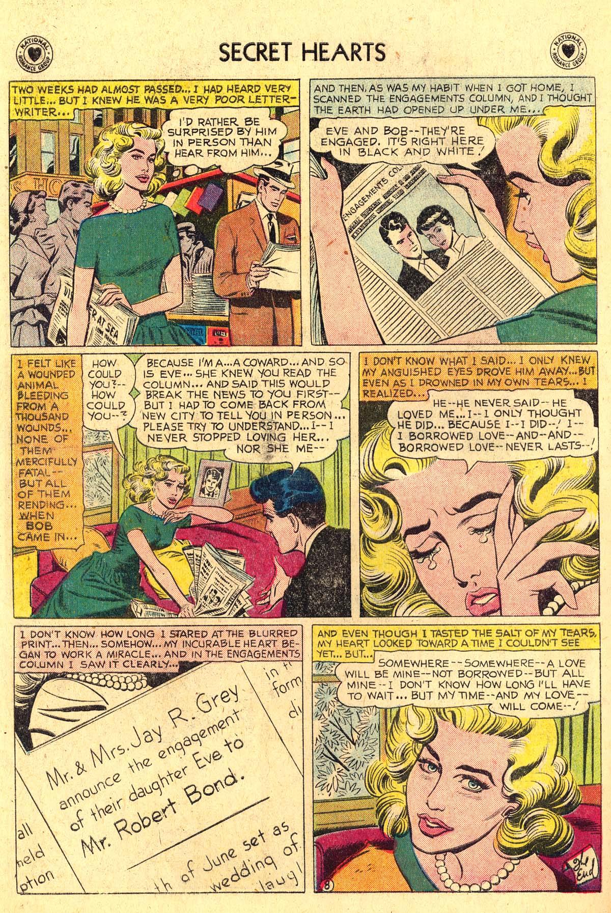 Read online Secret Hearts comic -  Issue #57 - 34