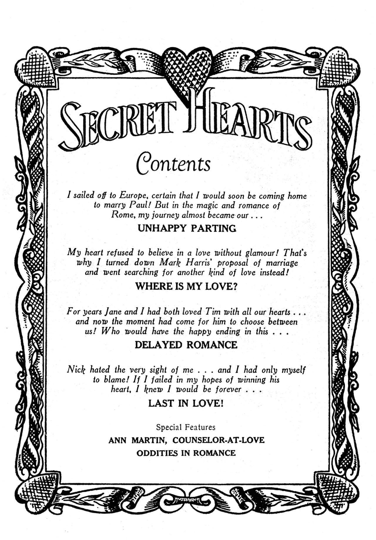 Read online Secret Hearts comic -  Issue #32 - 2