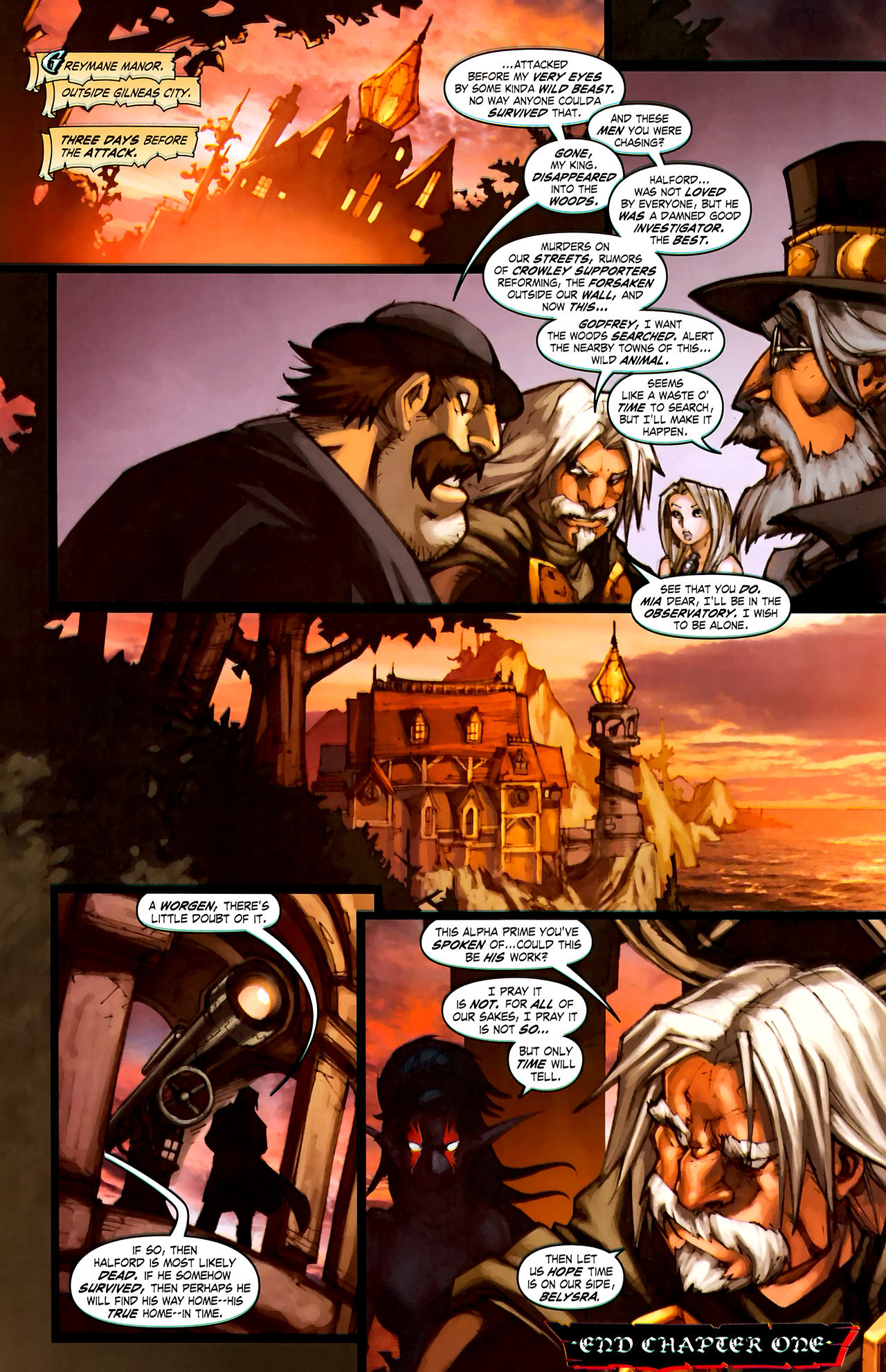 Read online World of Warcraft: Curse of the Worgen comic -  Issue #1 - 30