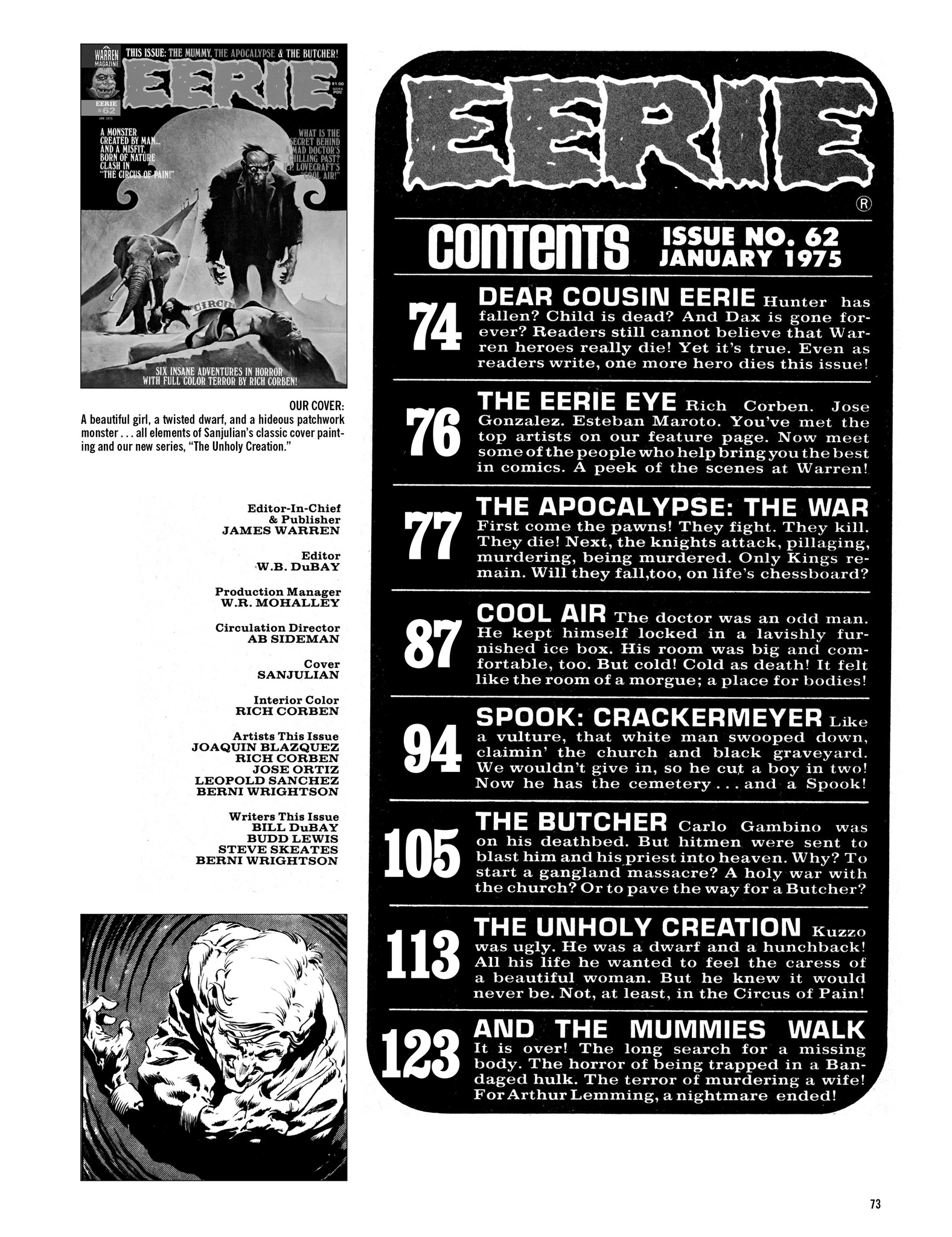 Read online Eerie Archives comic -  Issue # TPB 13 - 74