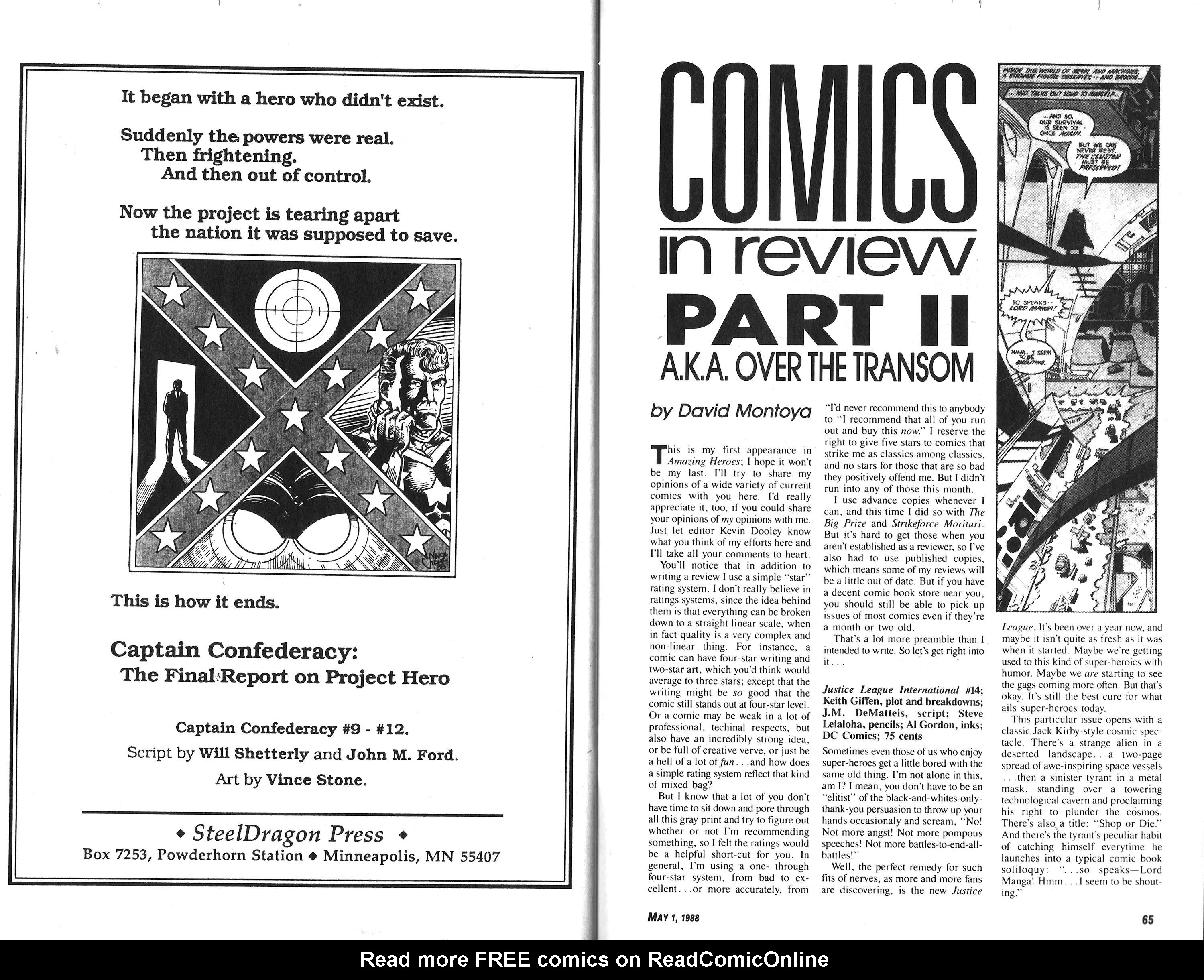 Read online Amazing Heroes comic -  Issue #140 - 33