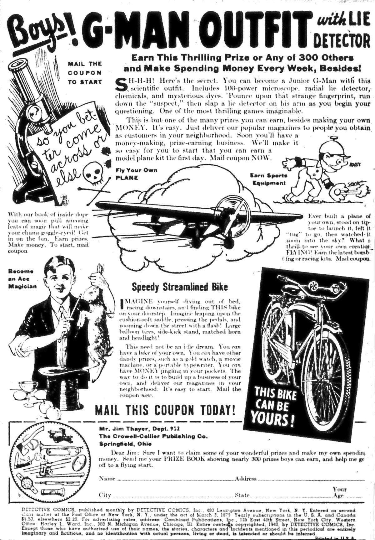 Detective Comics (1937) 40 Page 1