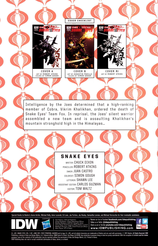 Read online G.I. Joe: Snake Eyes comic -  Issue #2 - 3