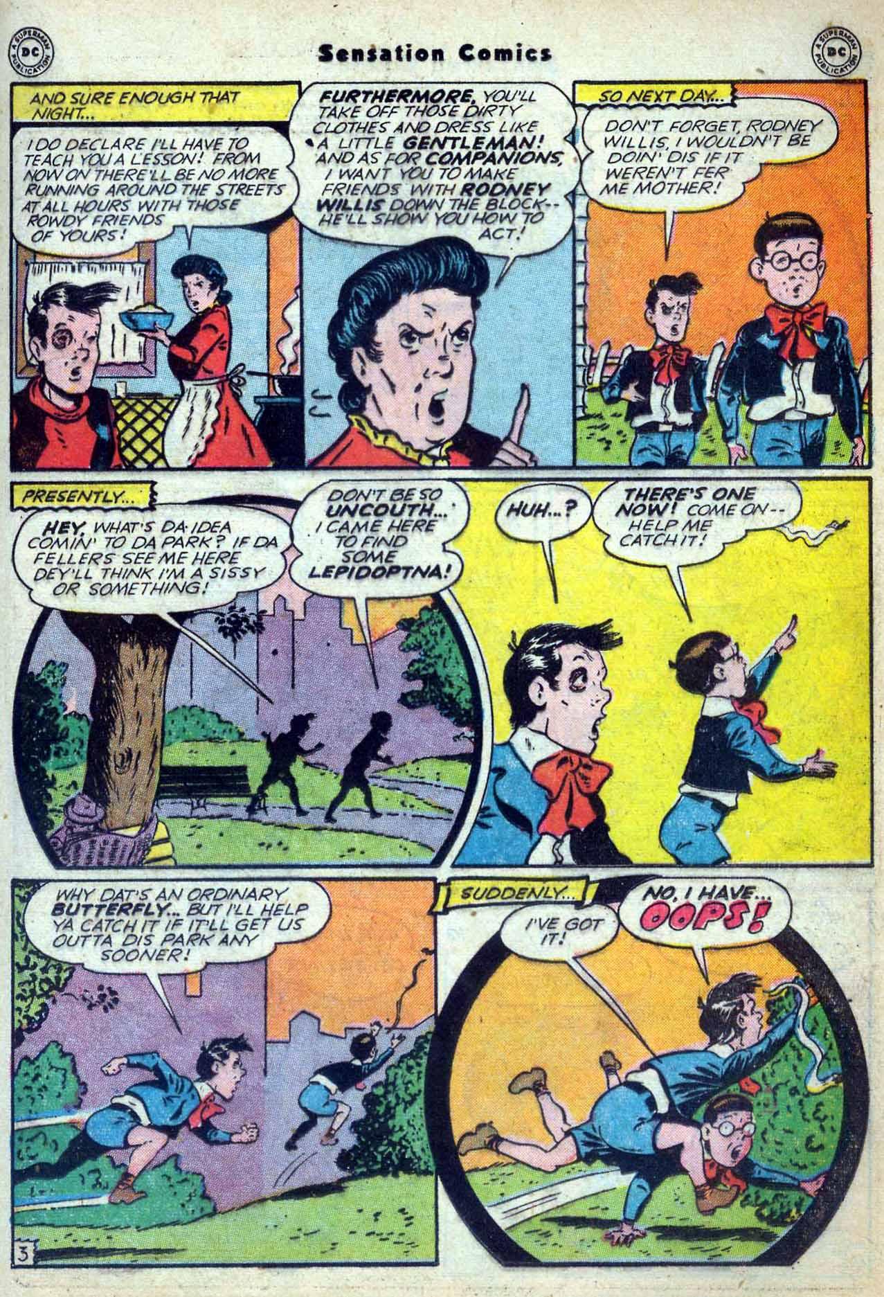 Read online Sensation (Mystery) Comics comic -  Issue #59 - 19